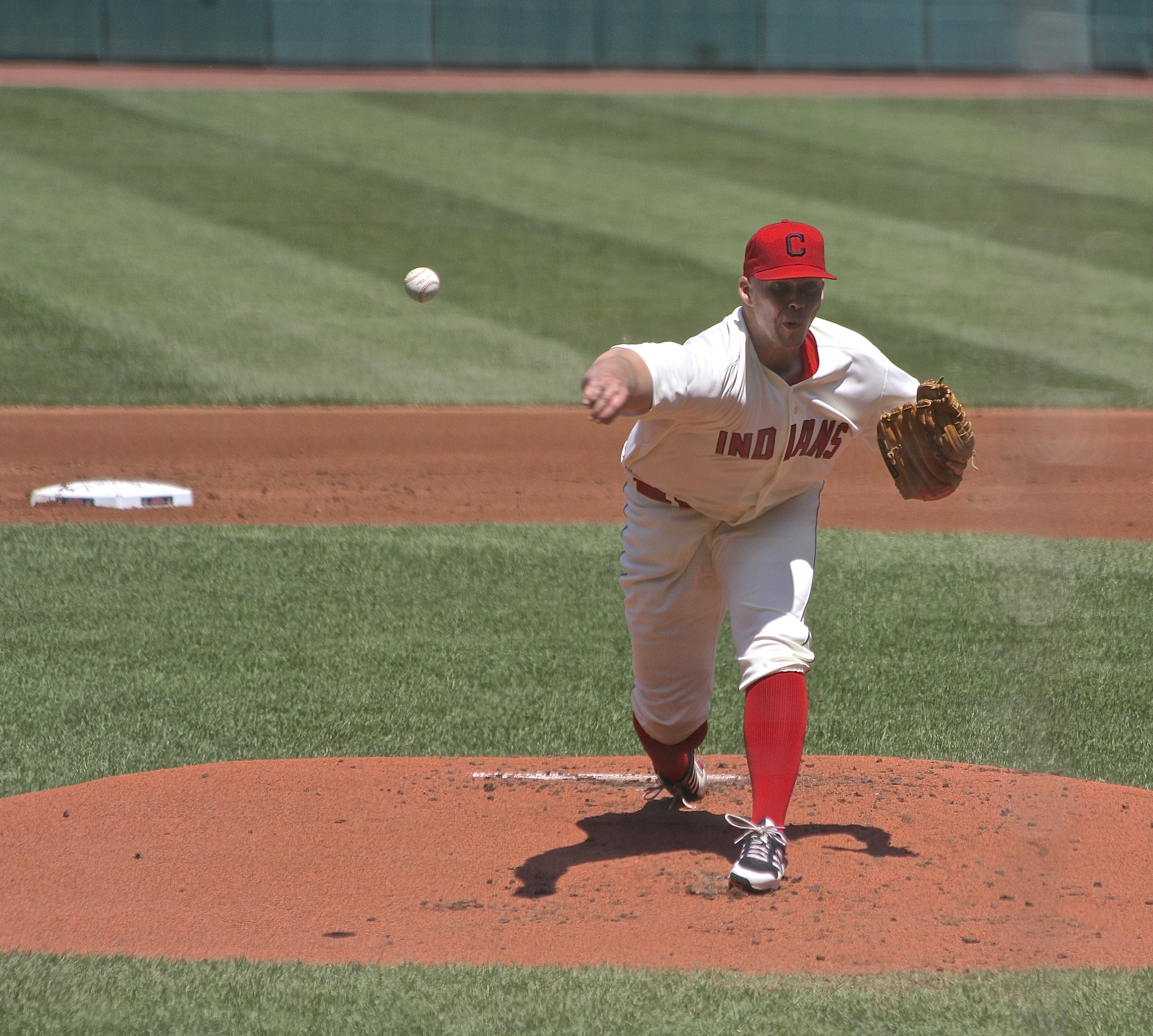 Justin Masterson on the mound