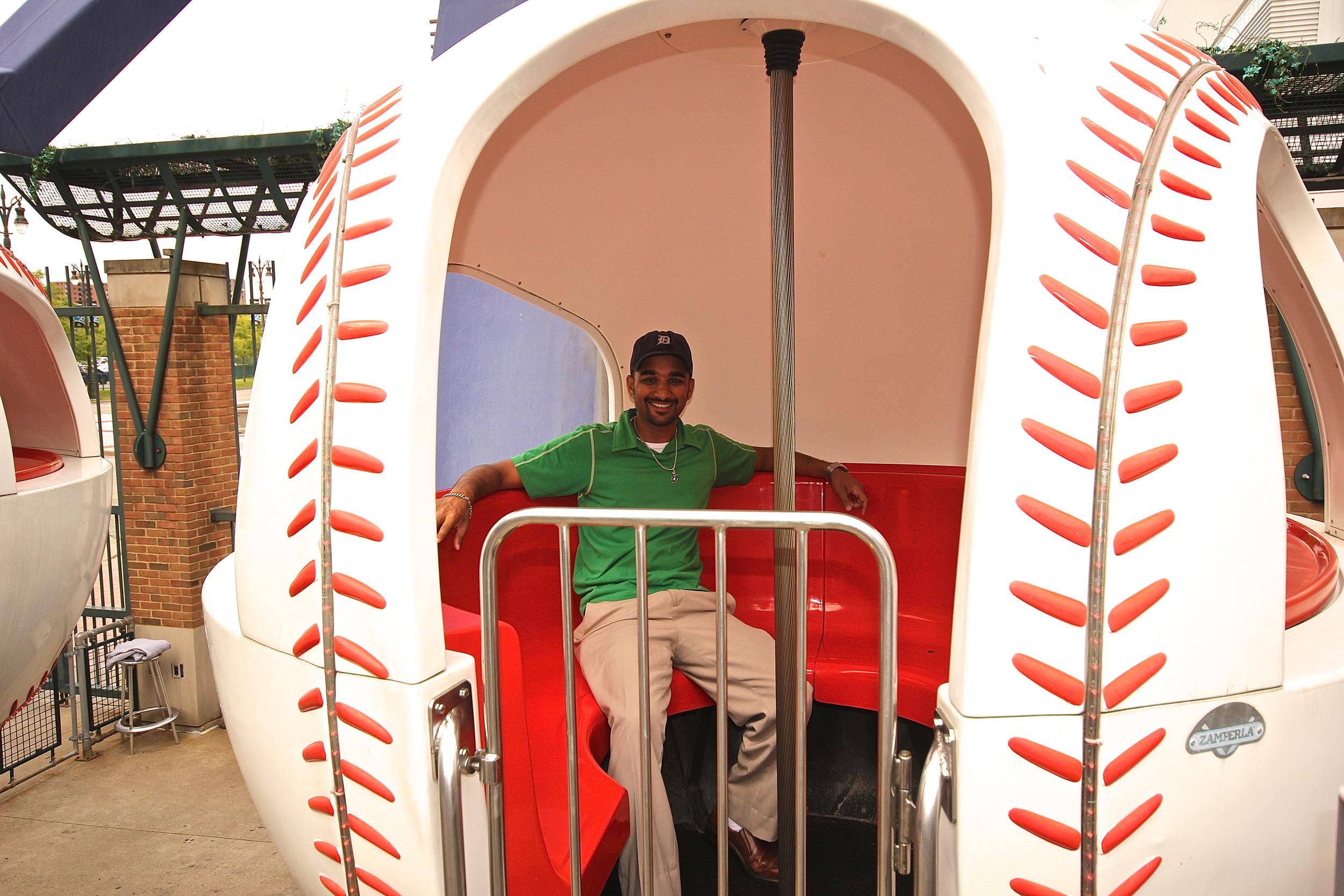 Me riding the ferris wheel