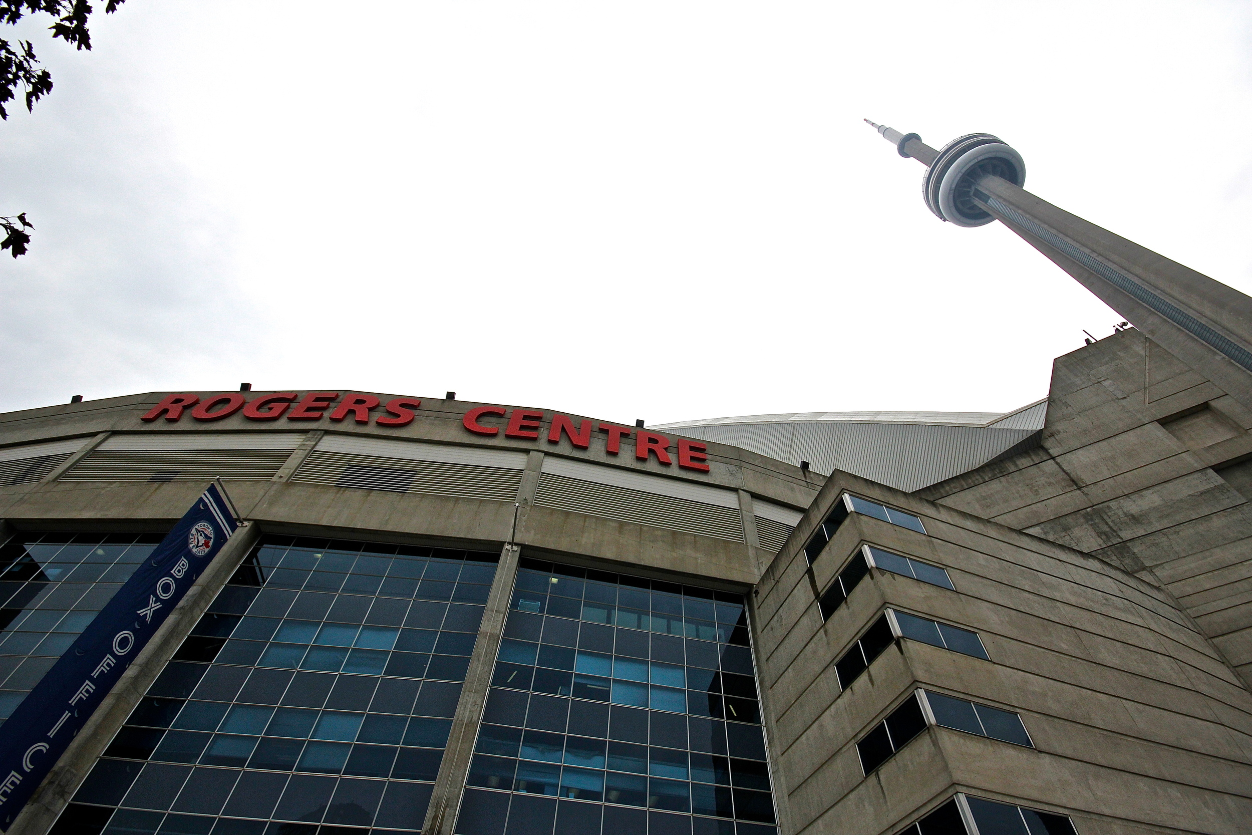 CN Tower in the shadow of Rogers Centre