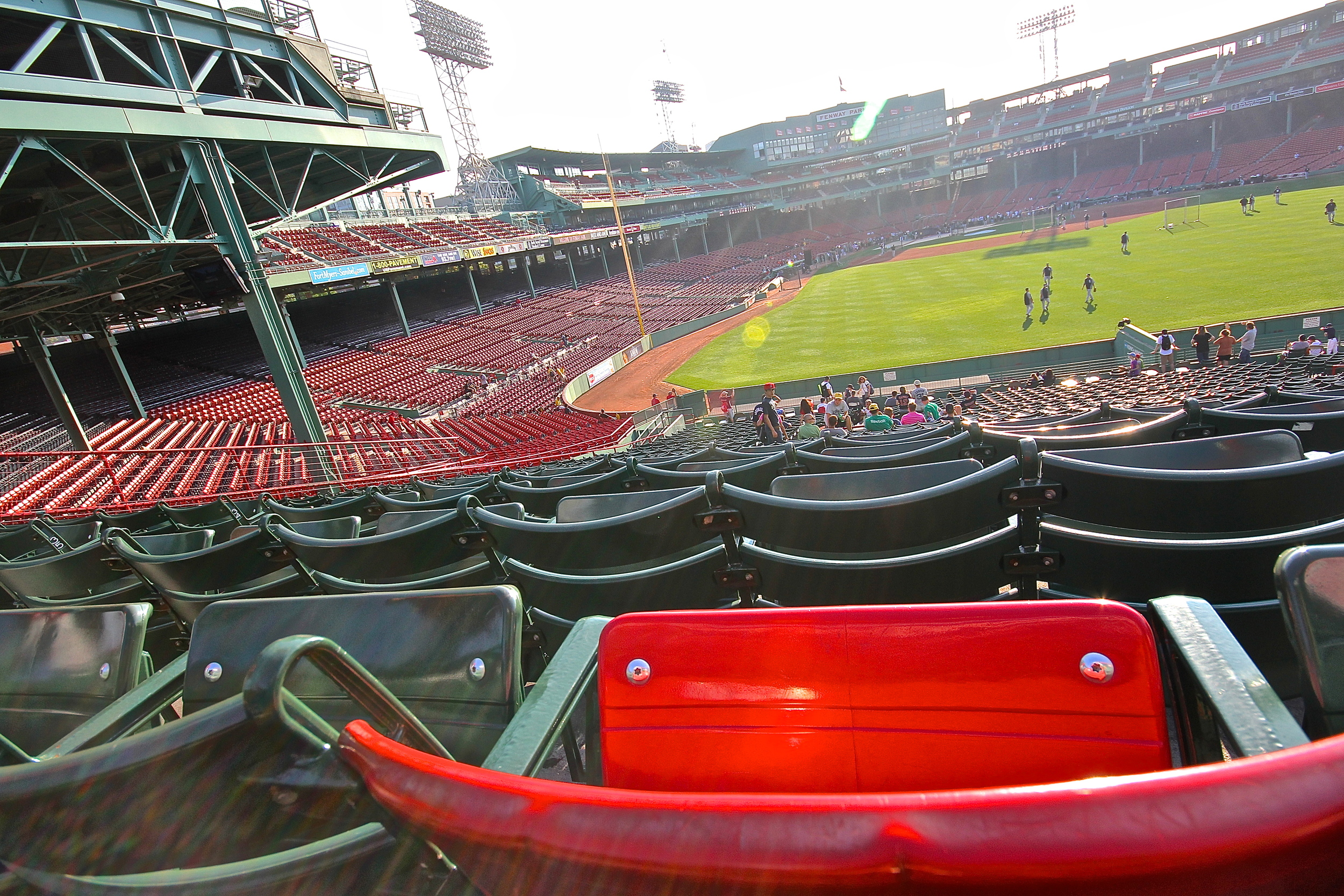 View from the Ted Williams seat