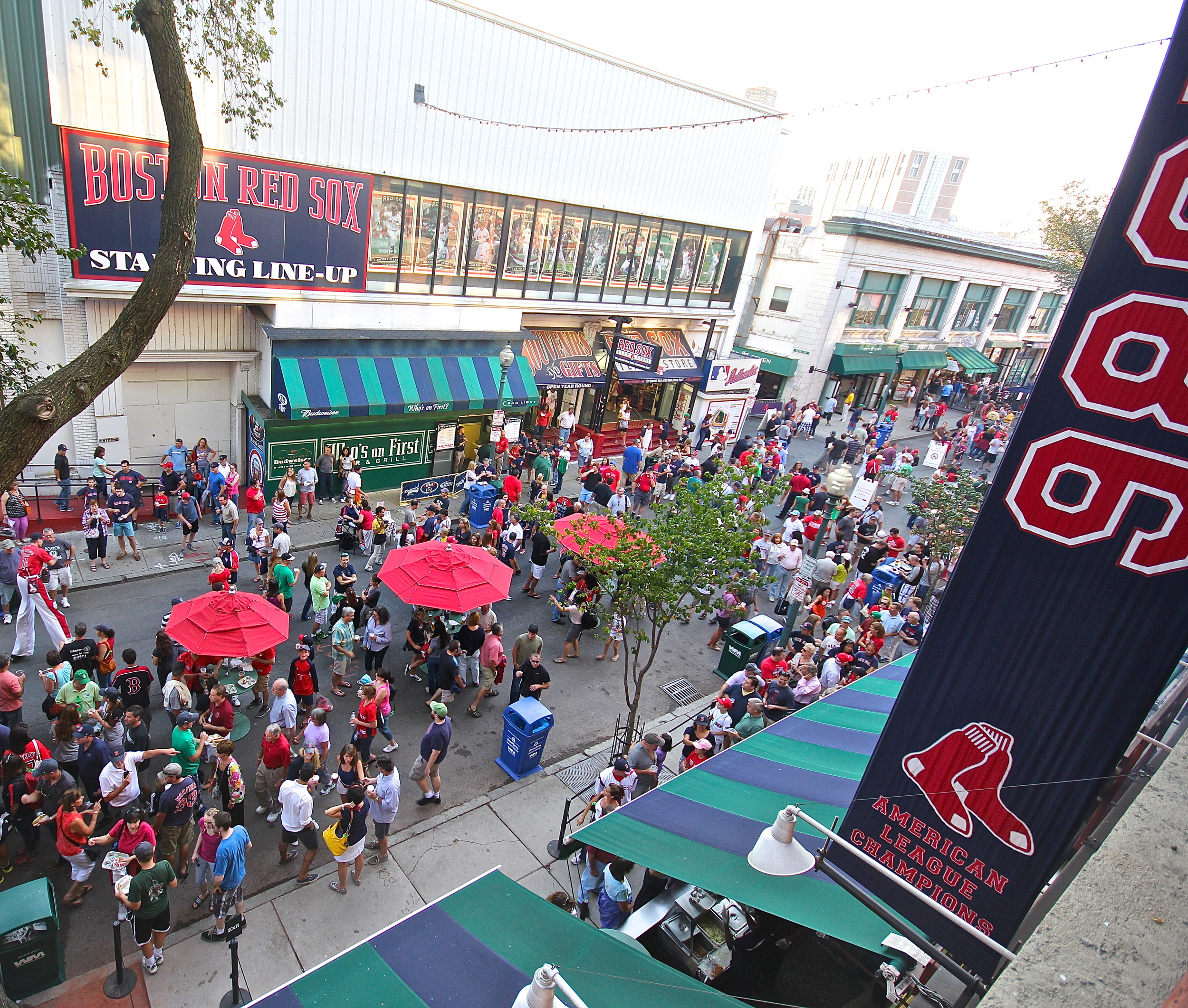 Yawkey Way is filling up