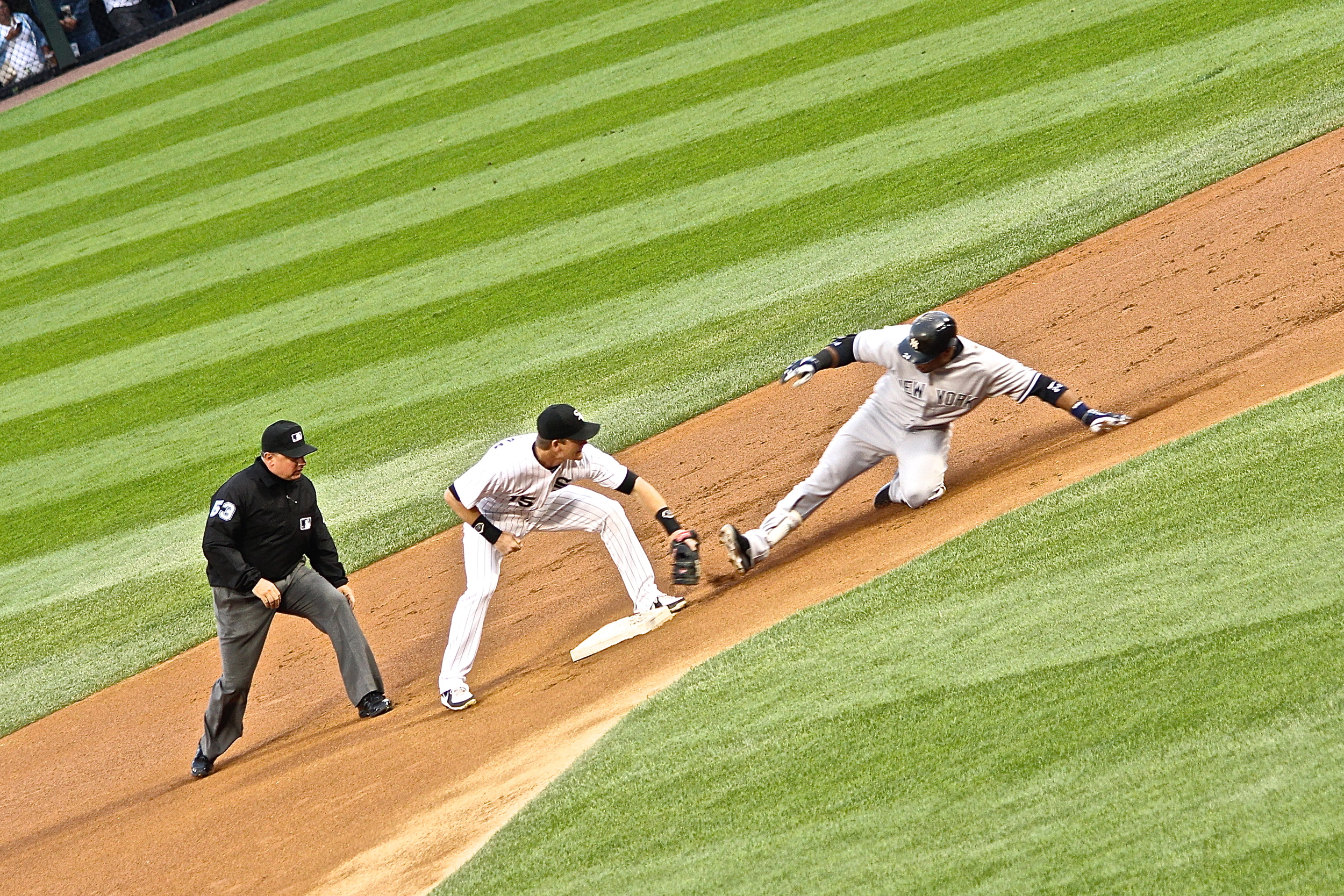 Robinson Cano out at second
