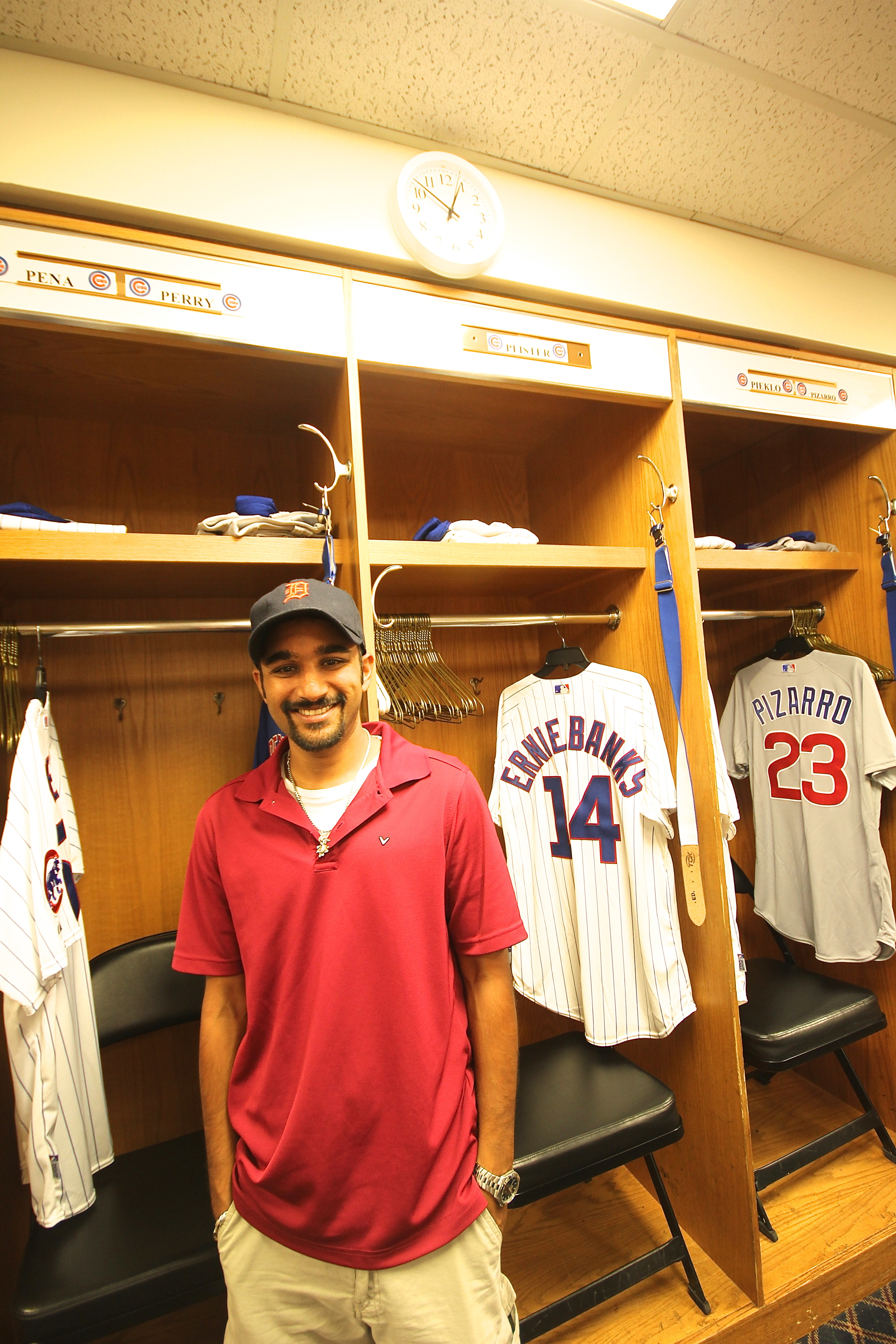 Me in the visitors clubhouse