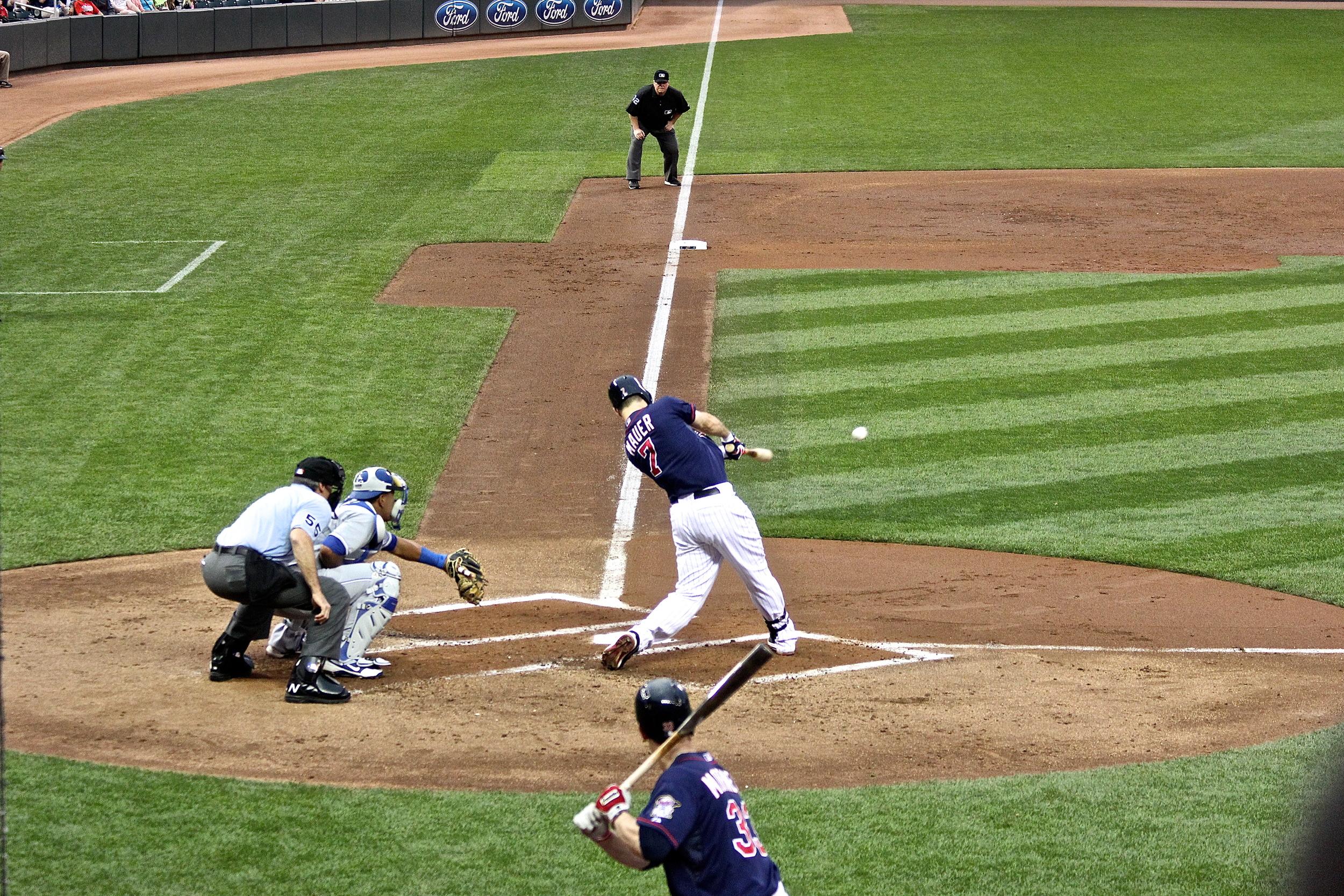 Joe Mauer base knock