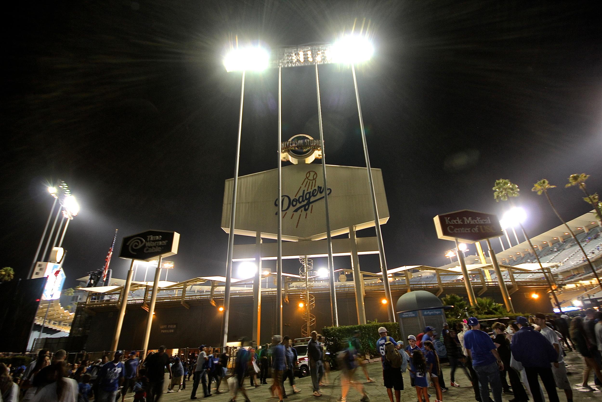 Good night Dodgers Stadium