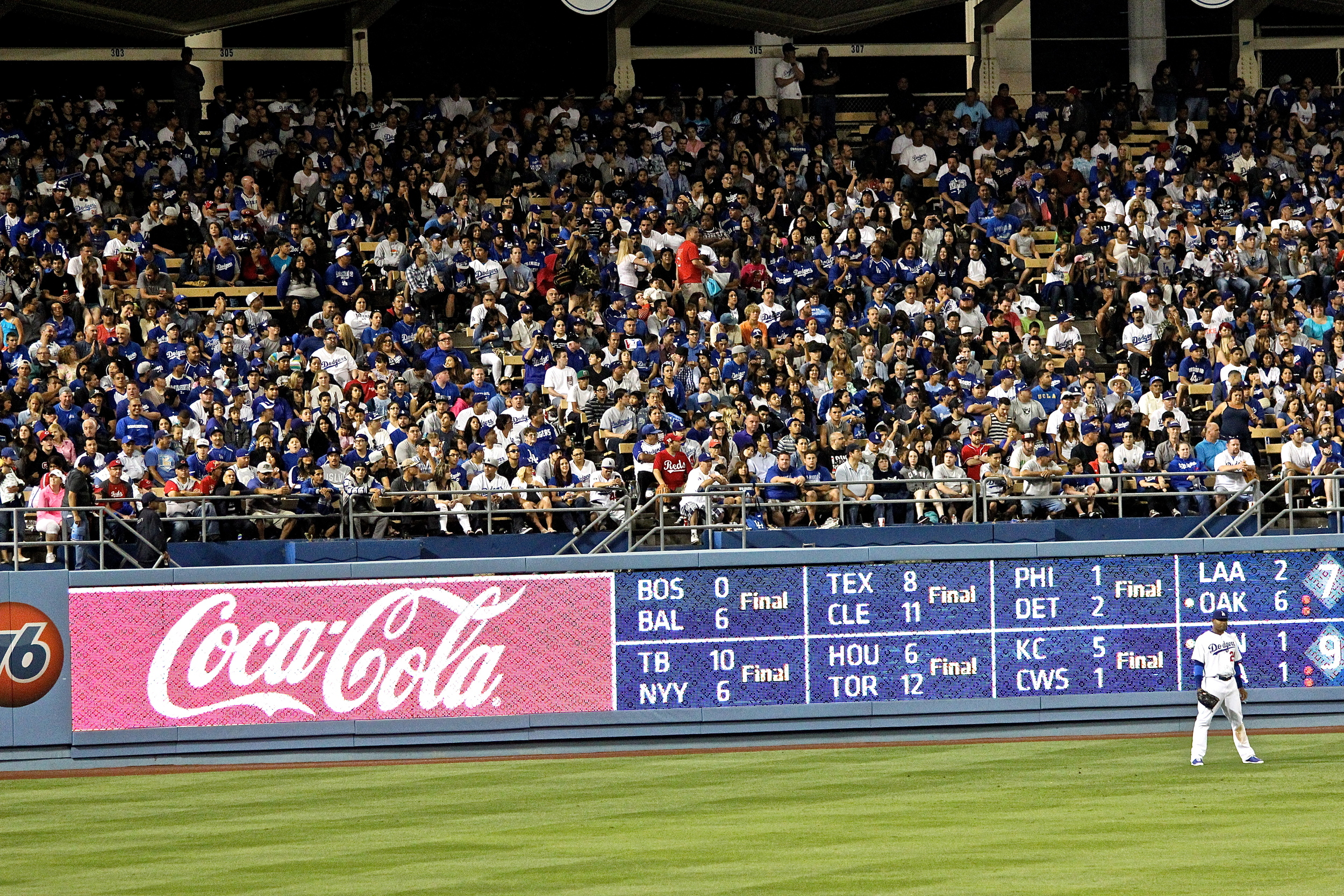 Carl Crawford alone in the outfield