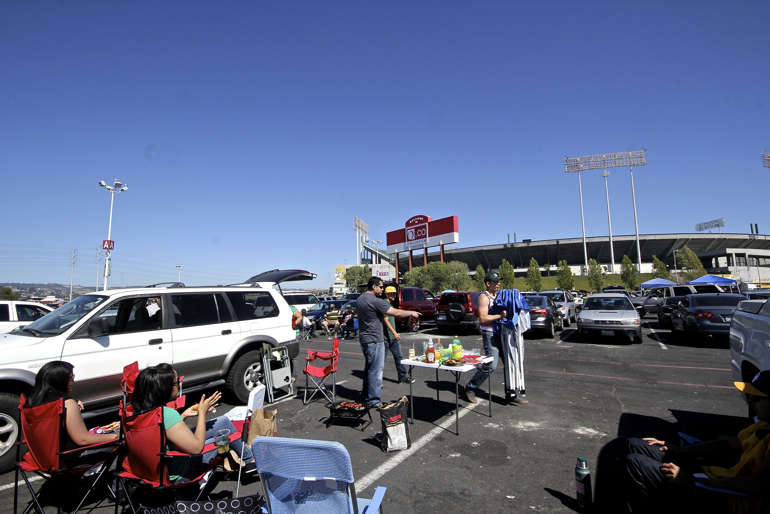 Tailgaters before the game