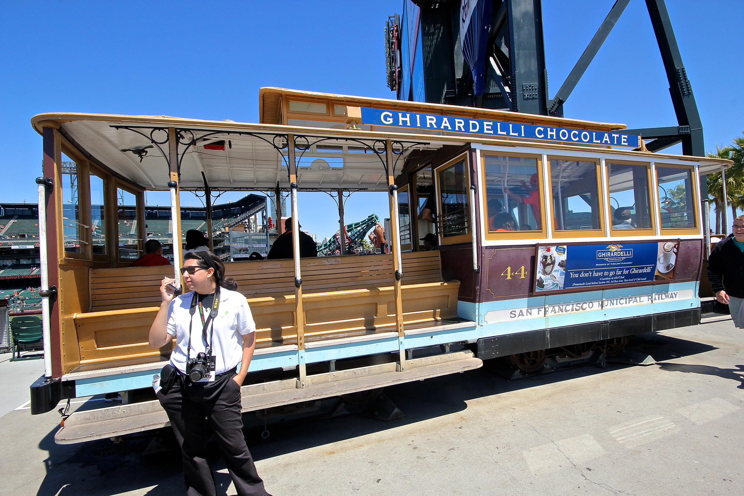 Cable car on the concourse