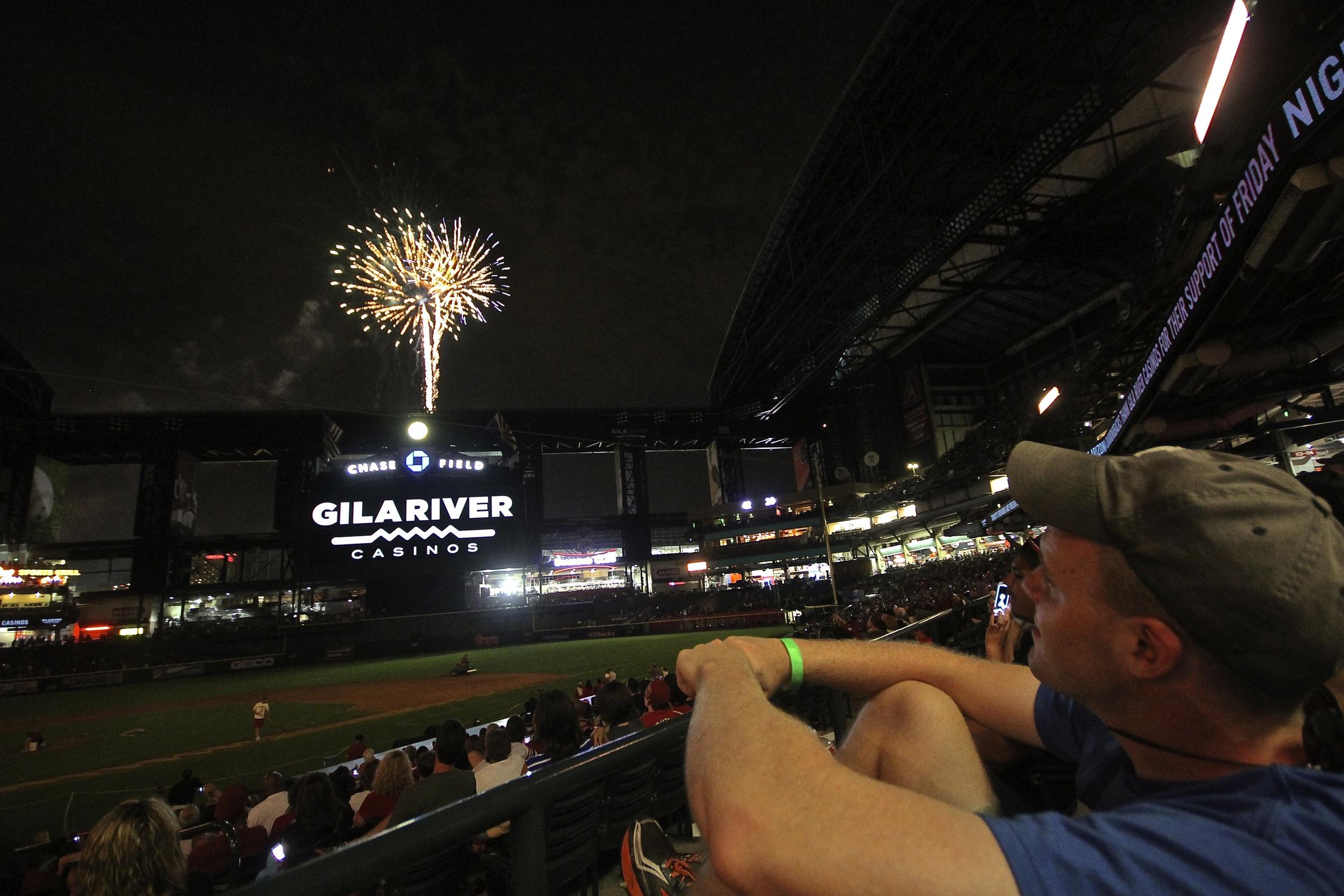 My buddy Rindler enjoying the fireworks