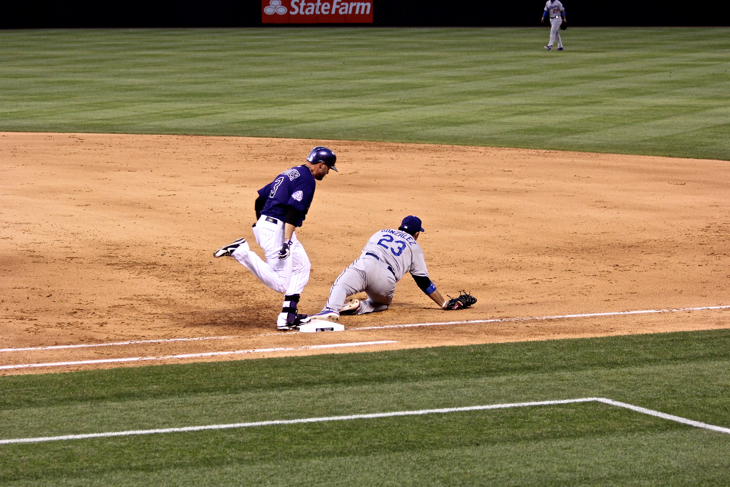 Michael Cuddyer out at first