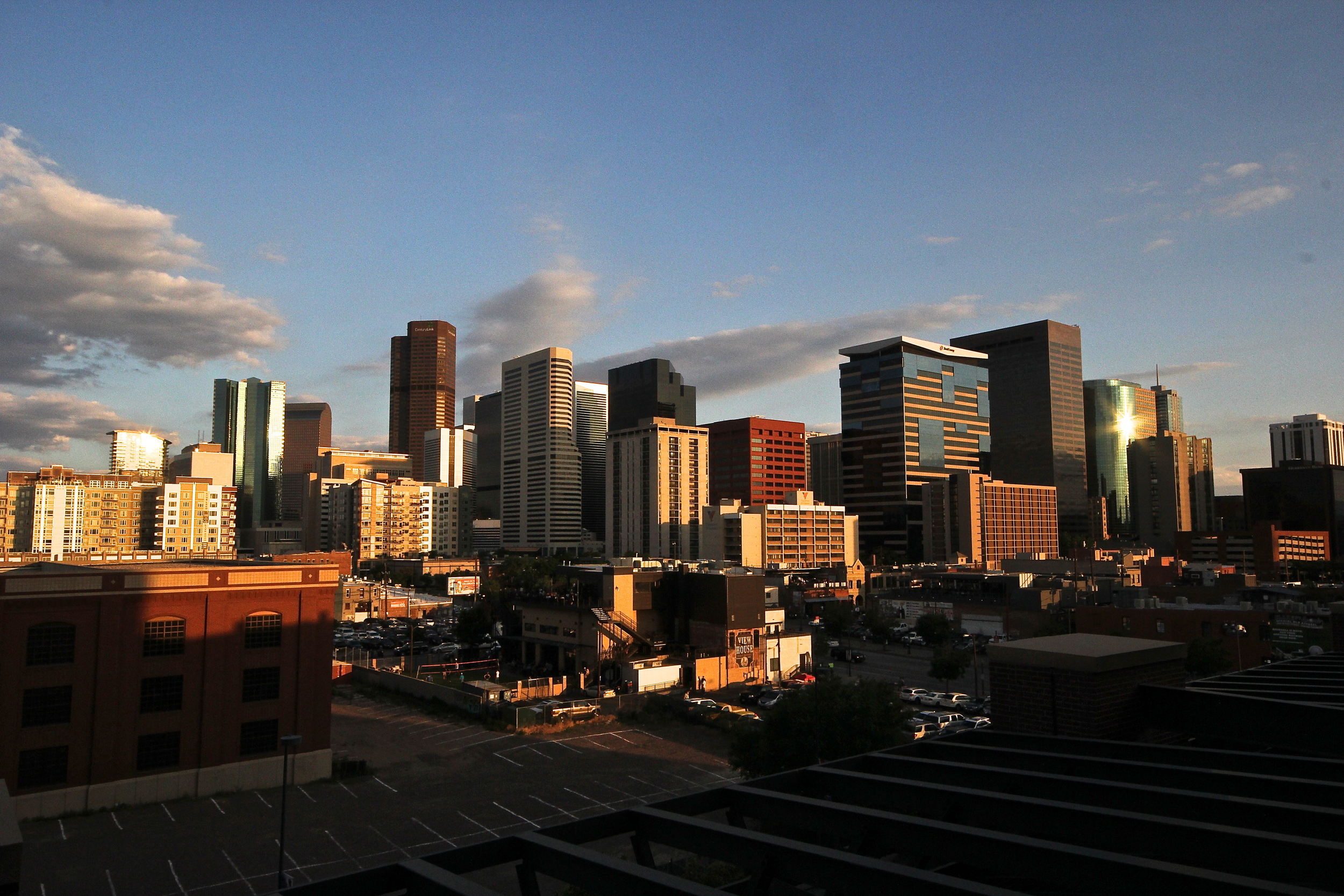 Downtown Denver from Coors Field