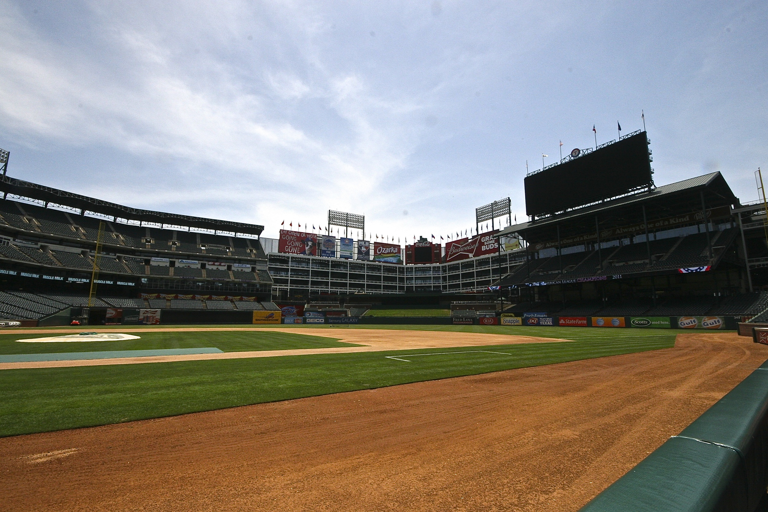 View from the dugout