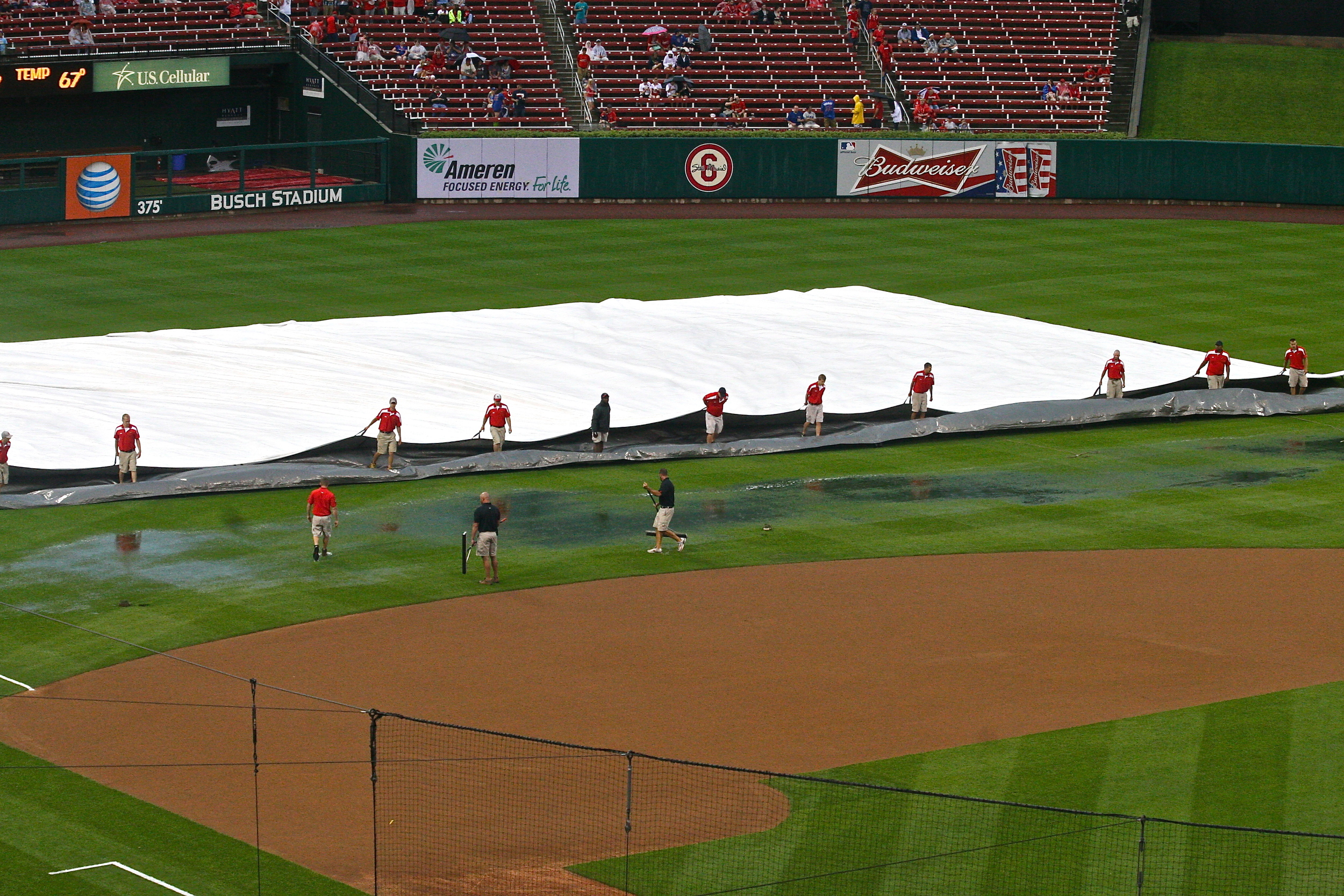 Clearing out the tarp