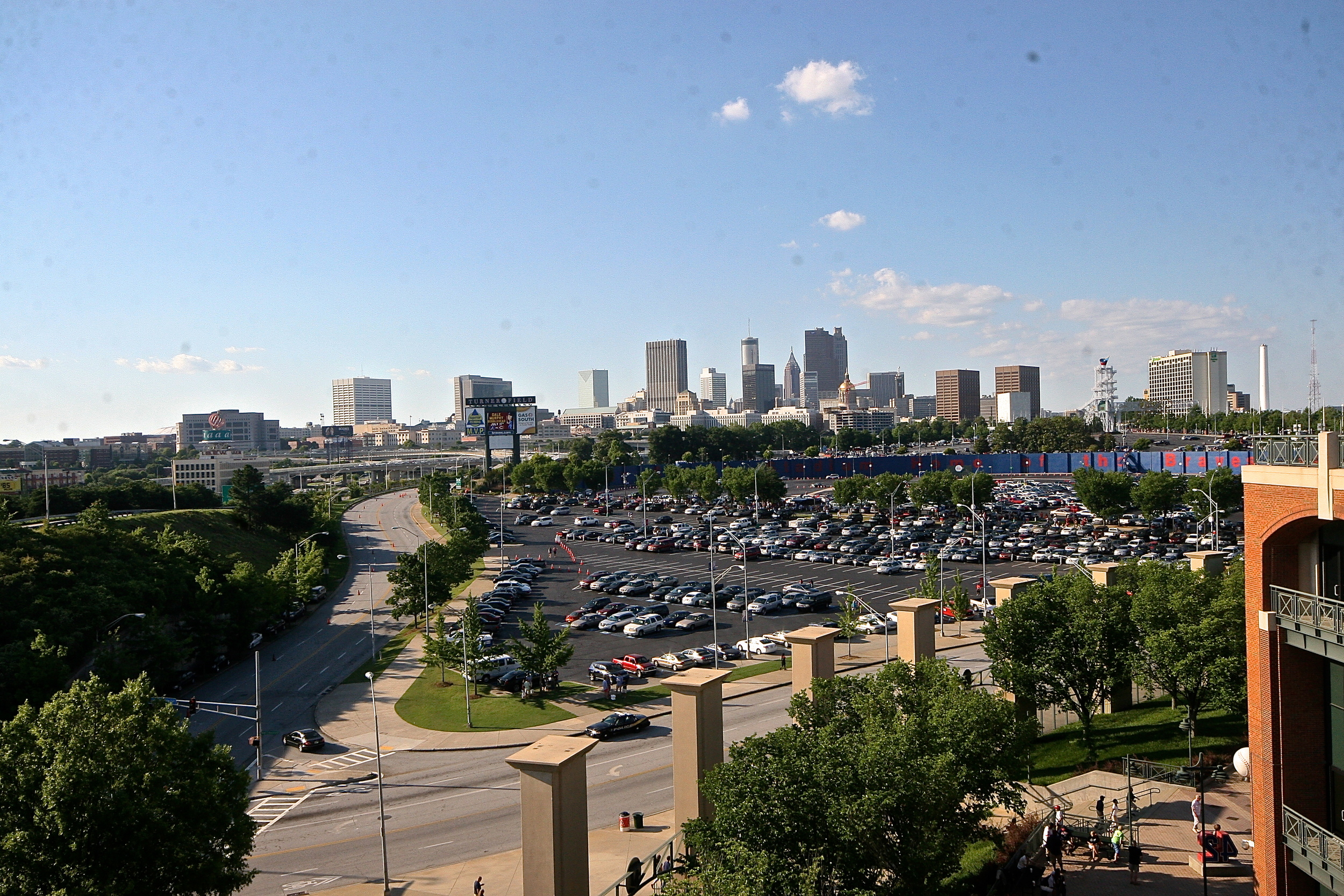 View of downtown Atlanta from the ballpark