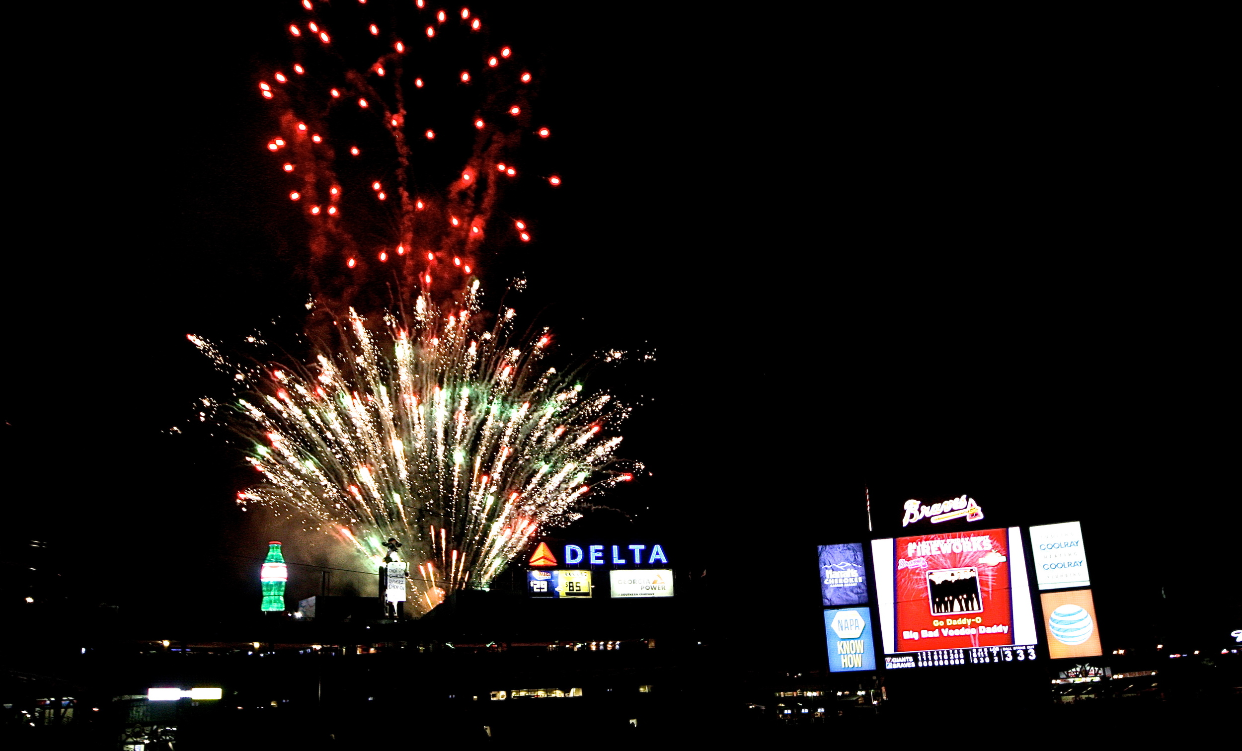 Post game fireworks
