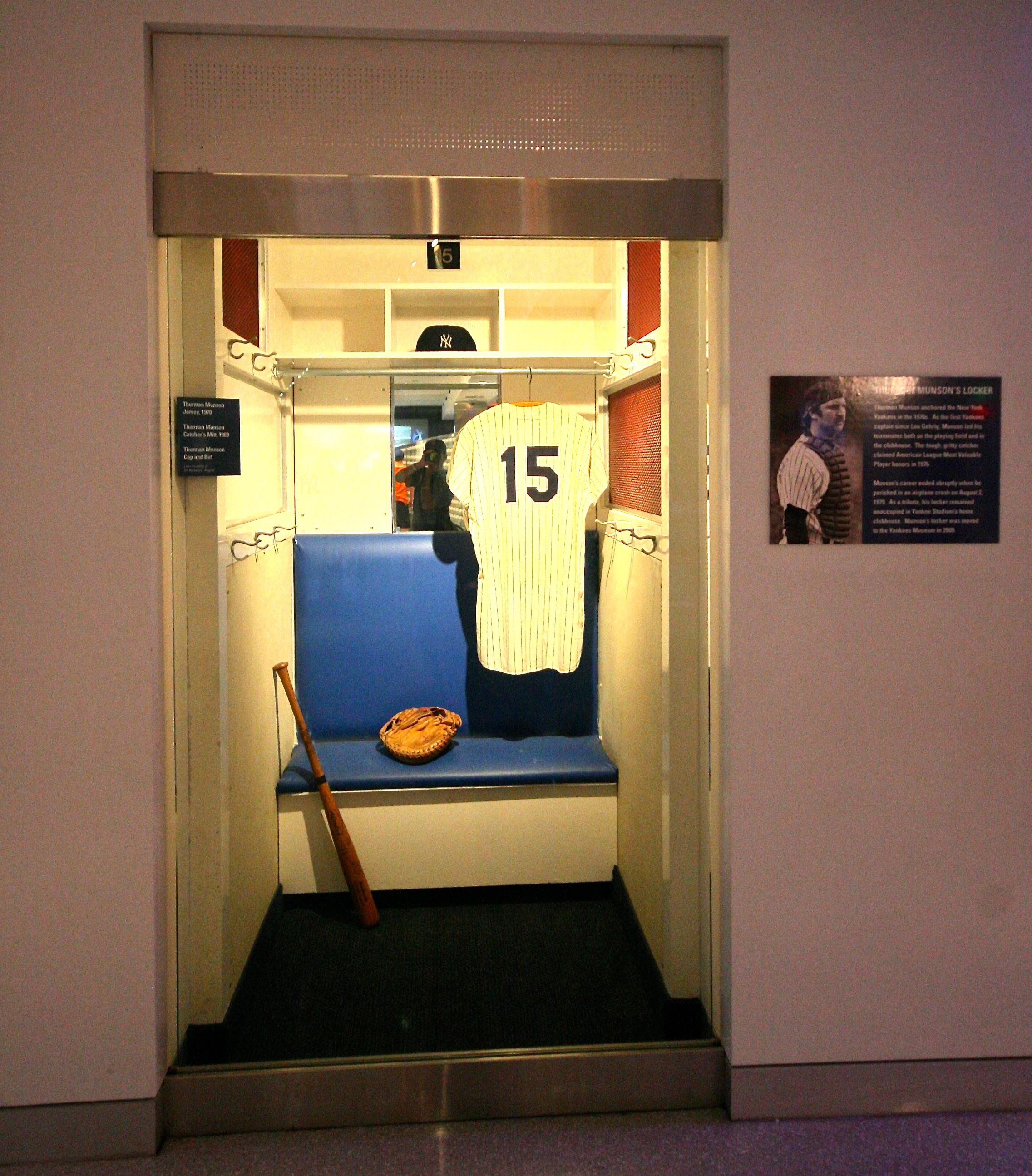 Thurman Munson's old locker