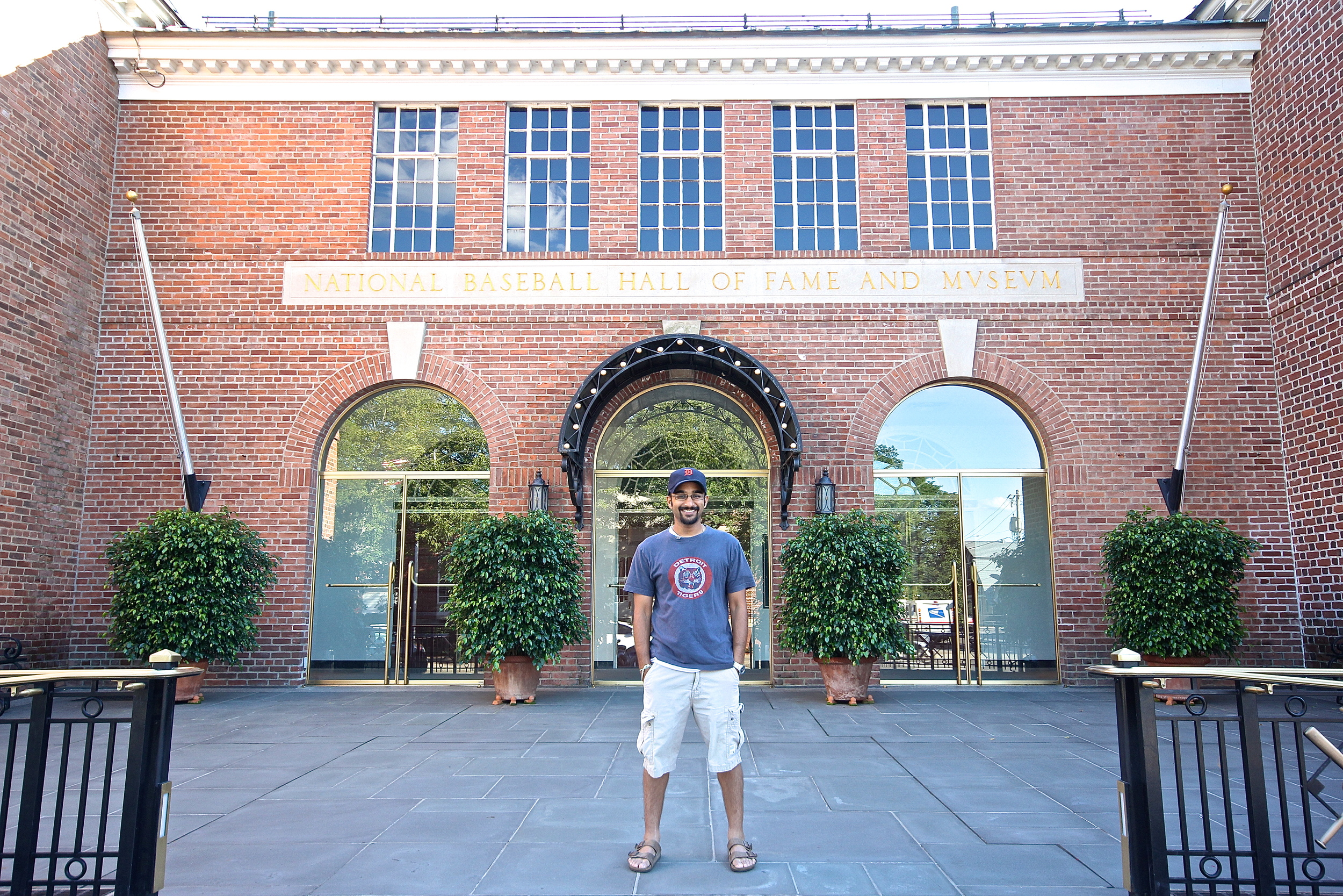 Me in front of the Hall of Fame