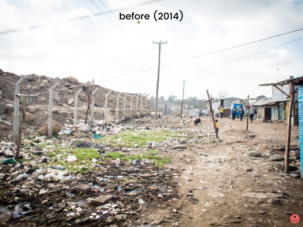 Before Malezi clean-up efforts, 2014.