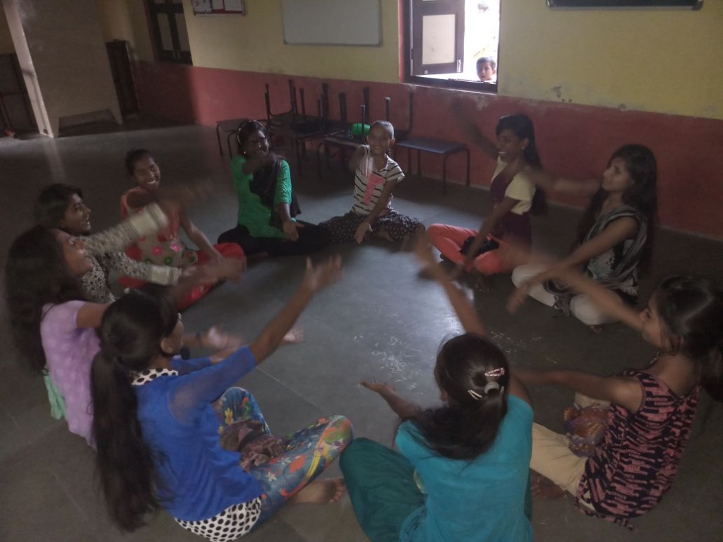 A Girls Circle session.