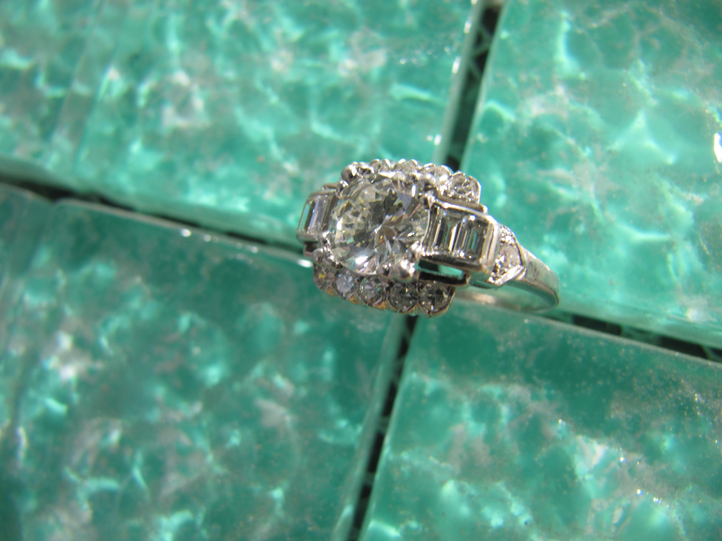SOLD - 1.15 carat center diamond ring set in platinum