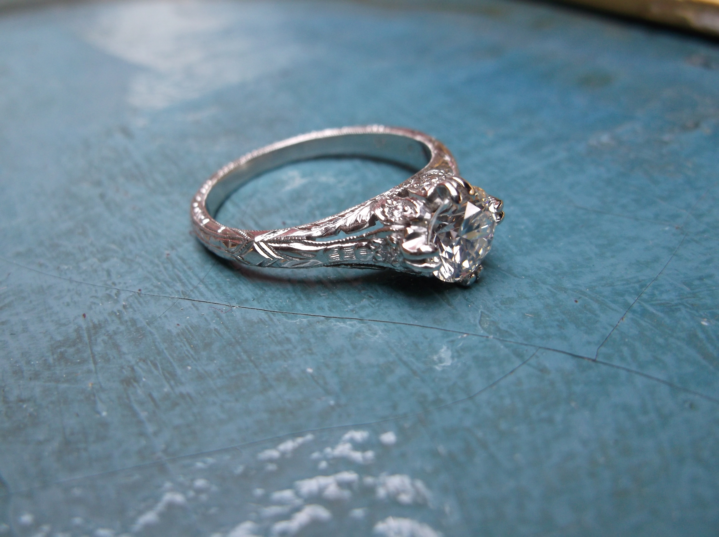 SOLD - 1920's filigree diamond ring