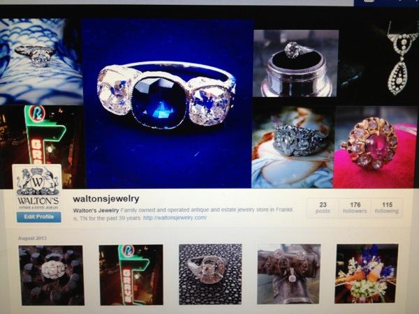 Walton's Instagram page @waltonsjewelry