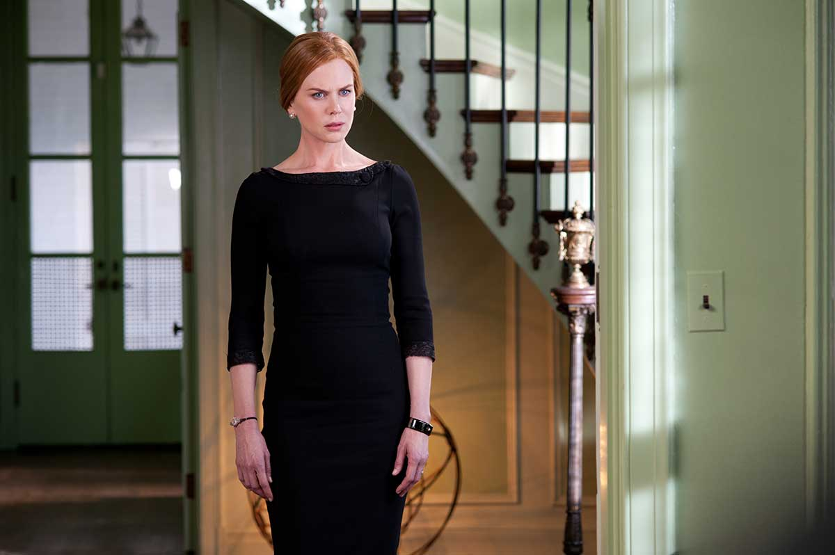 Nicole Kidman as Evelyn, wearing a black onyx and diamond Victorian mourning bracelet, available at Walton's.