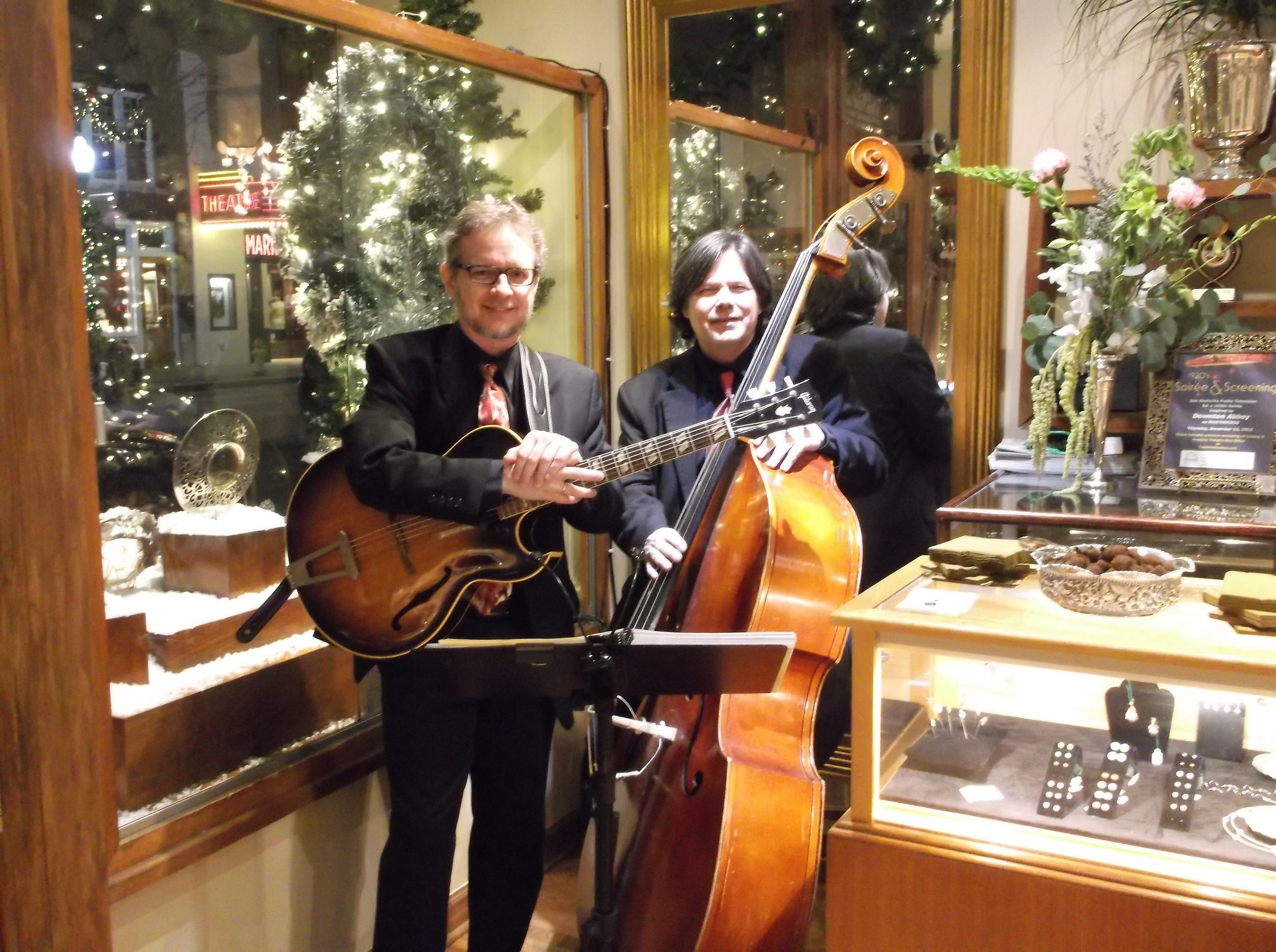 Kent Burnside, jazz guitarist, and Roy Vogt, upright bassist