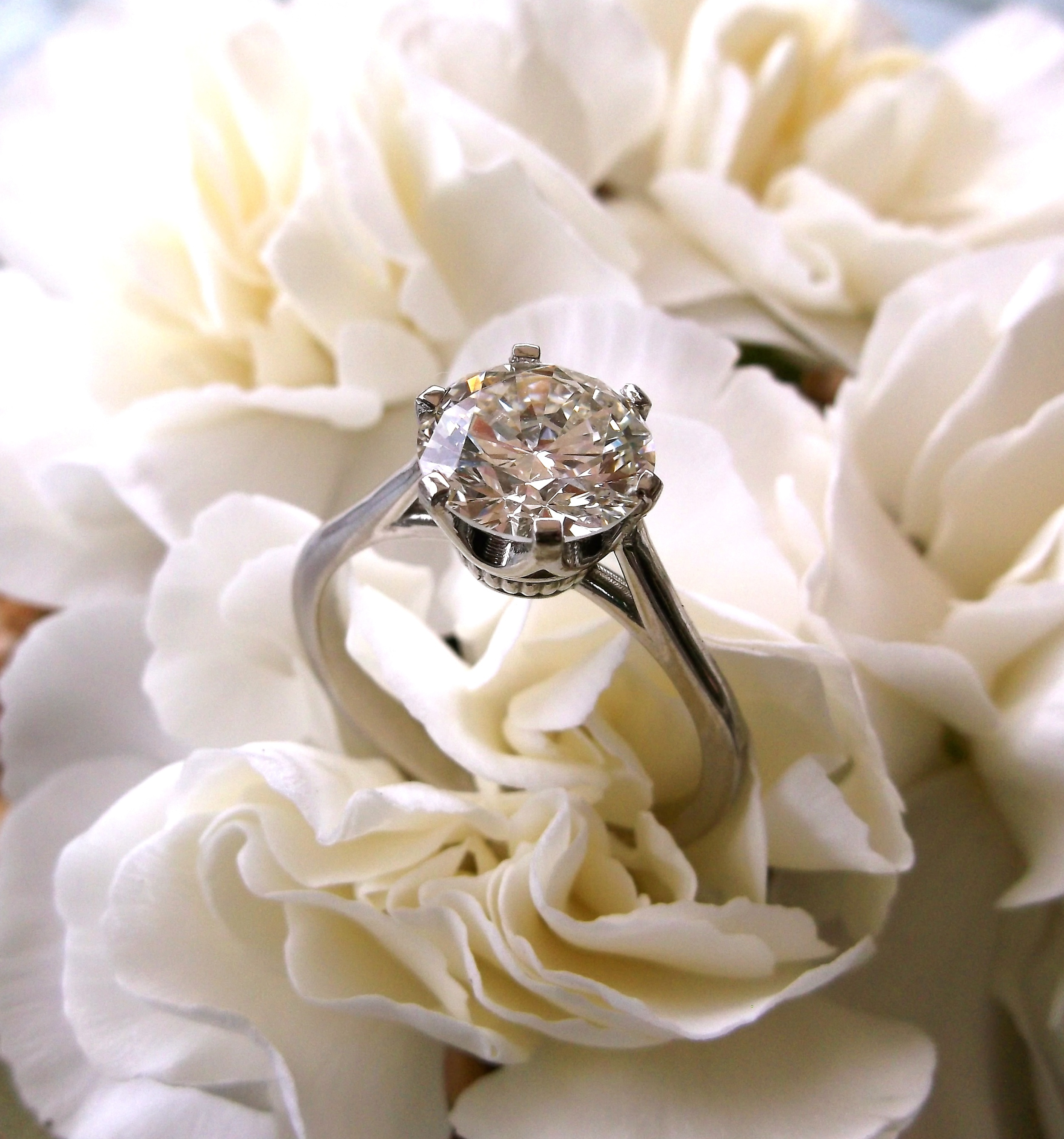 SOLD - A classic beauty! 2.00 carat Old European cut diamond set in a dainty six prong mounting.