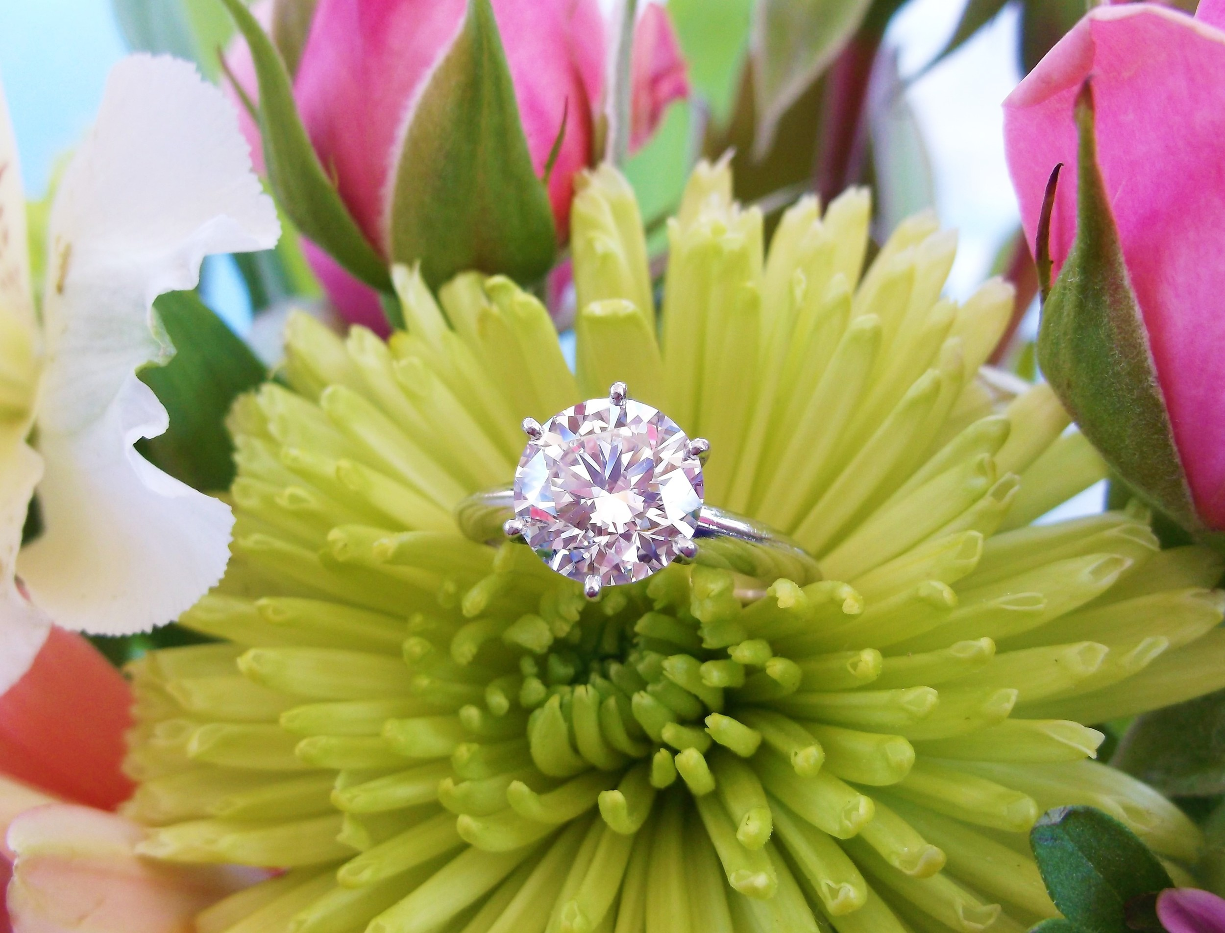 SOLD - Extraordinary Tiffany & Company 2.03 carat solitaire round brilliant cut diamond in a classic six prong platinum setting.