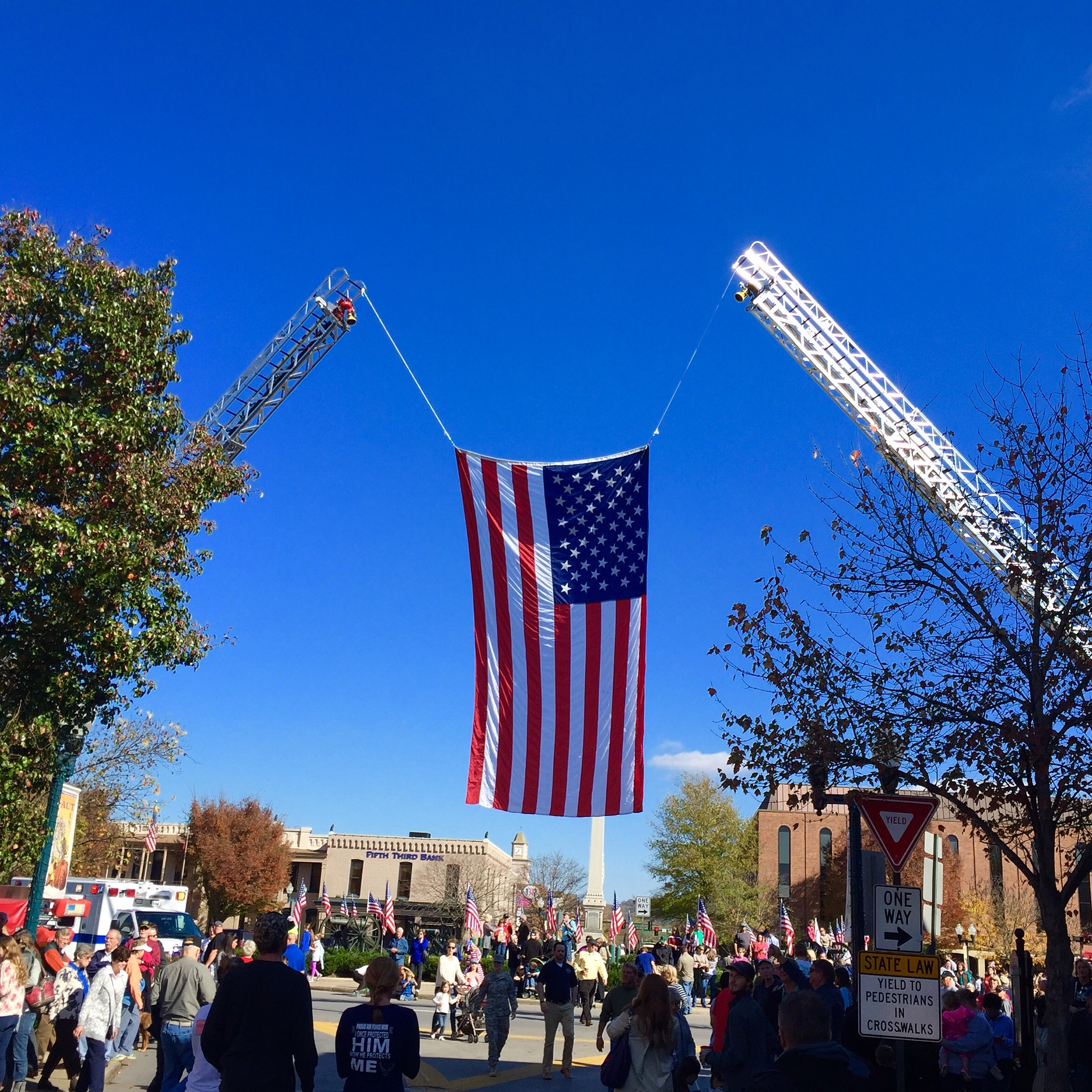 Veterans Day Parade in Downtown Franklin.