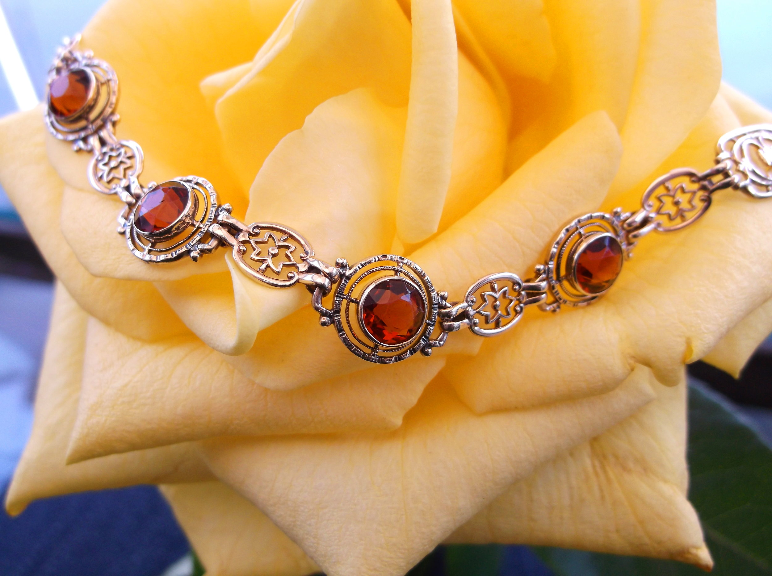 Dreamy citrine and yellow gold bracelet, set with approximately 3.75 carats total weight in citrine.