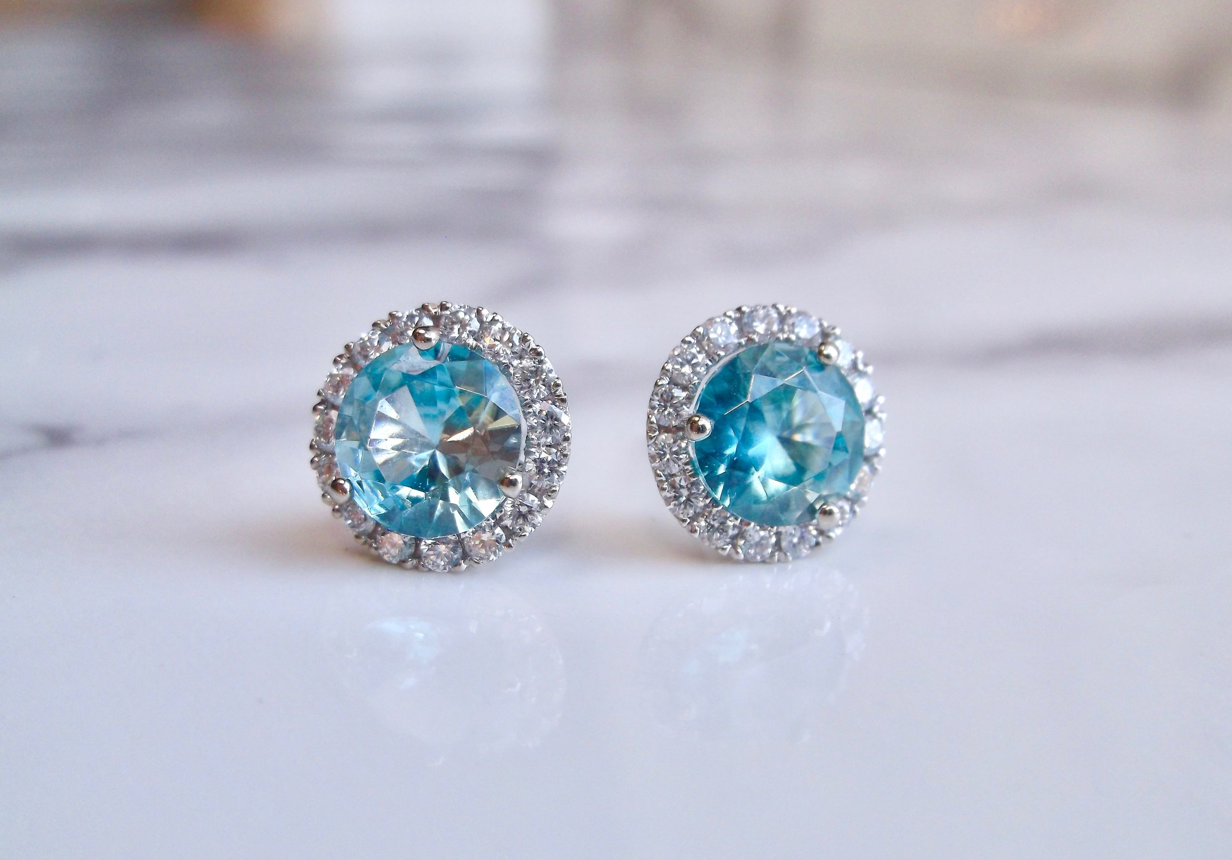 Tell me about it, stud. Shop these stud-ly blue zircon and diamond beauties  HERE.
