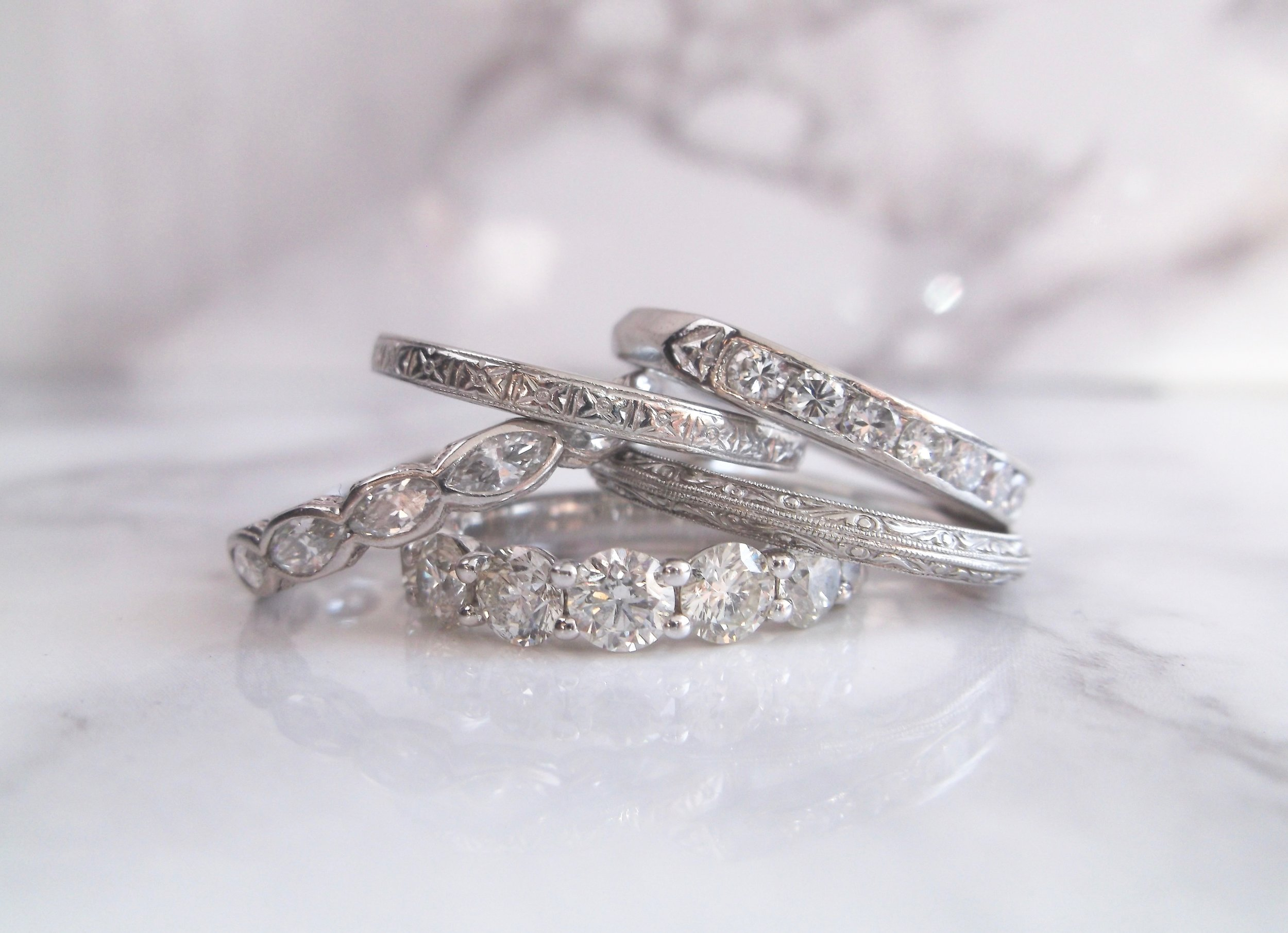 Casual Friday. Shop these beautiful diamonds bands  HERE .
