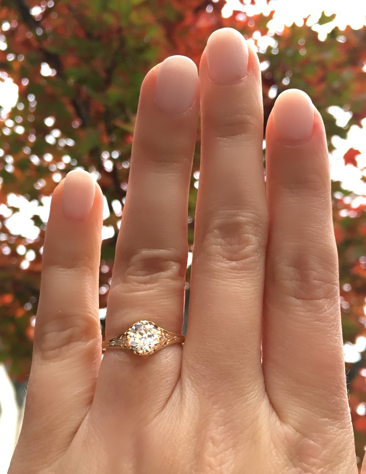 Crisp and cool for the fall! Shop this gorgeous diamond ring  HERE .