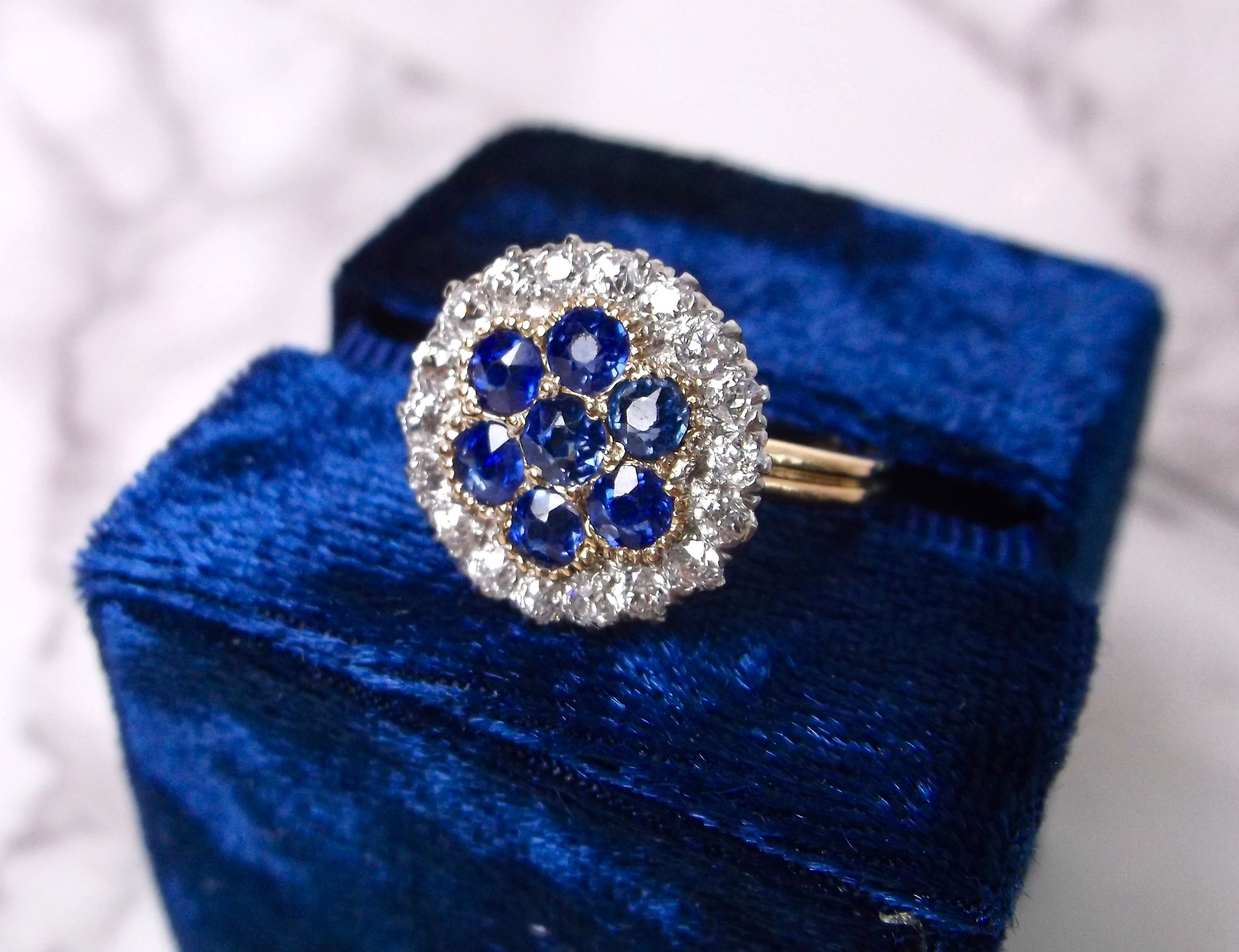 Feast your eyes on this Edwardian sapphire and diamond beauty! Shop this gorgeous ring  HERE .   The shop has been bustling for the holiday season, so please accept our apology for the lack of posts and additions to our website as of late! Inventory is flying out the door faster than we are able to share it will all of you! So... if you're in the area, be sure to pop by to see all of our current beauties before they are gone!