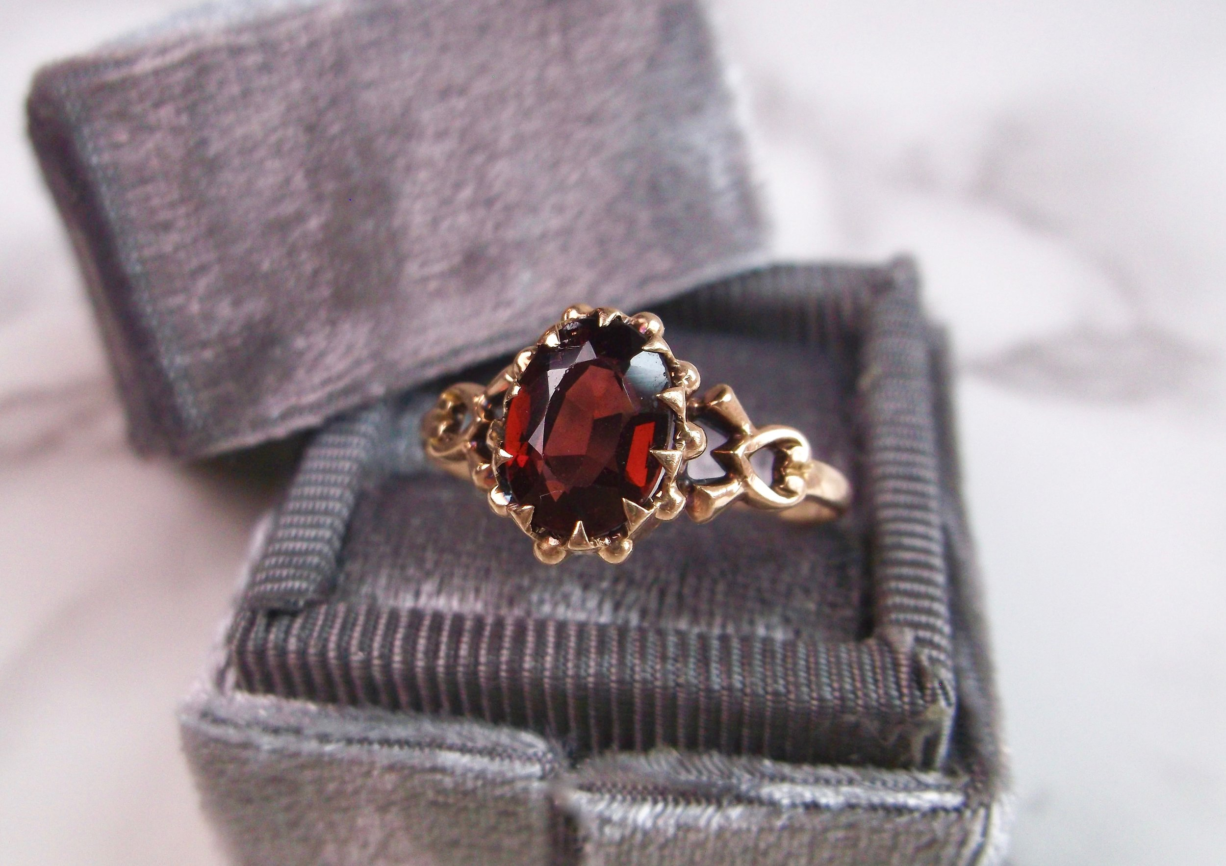 Oh the romance of the Victorian era! Shop this garnet beauty  HERE .