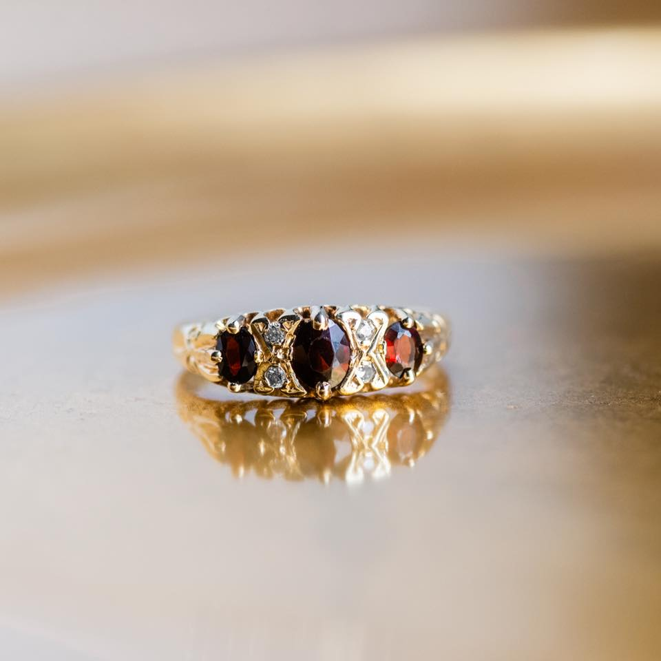 Garnets and Gold! Shop this lovely ring  HERE .