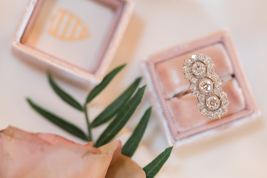 Fabulous elongated Art Deco Old European cut diamond ring, featuring 1.78 carats total weight in diamonds! Shop this stunner  HERE .   Photography by Amy Allmand Photography