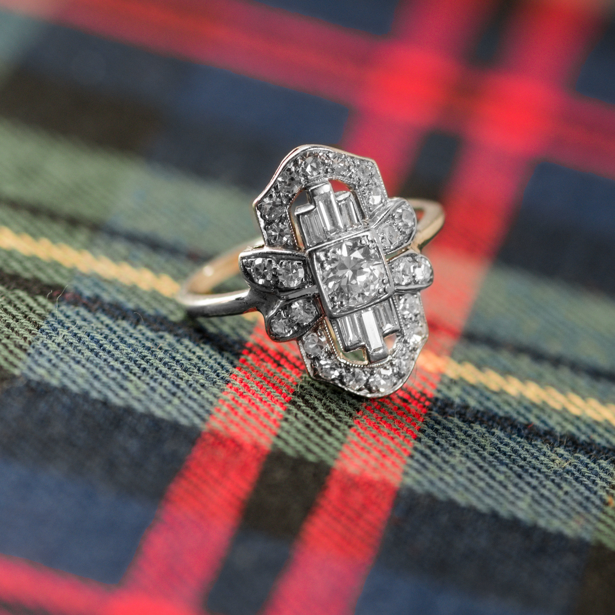 A little bit of plaid and a whole lot of diamonds! Tap  HERE  to shop this ring!