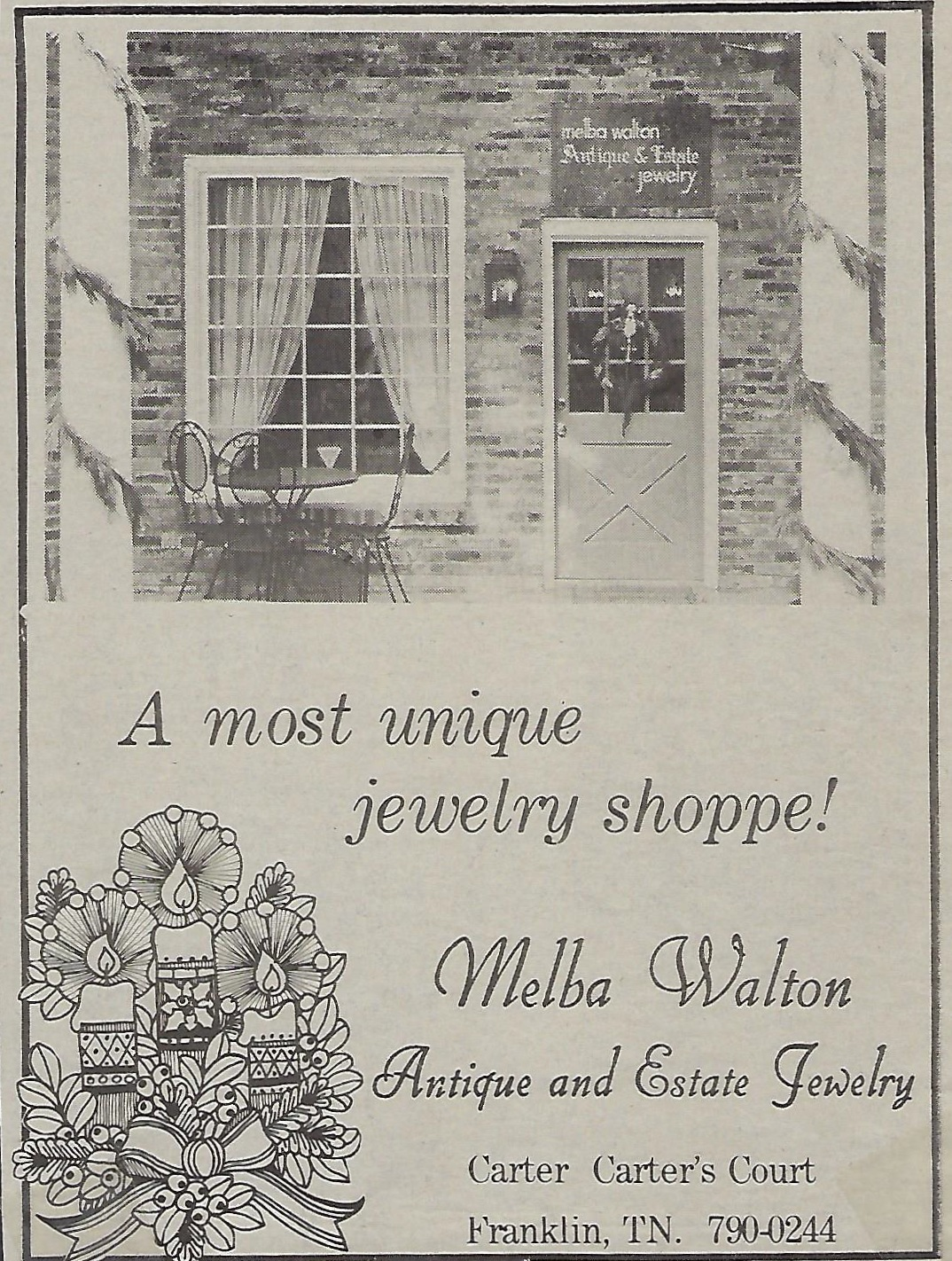 Our original location pictured here in a newspaper ad in 1981.
