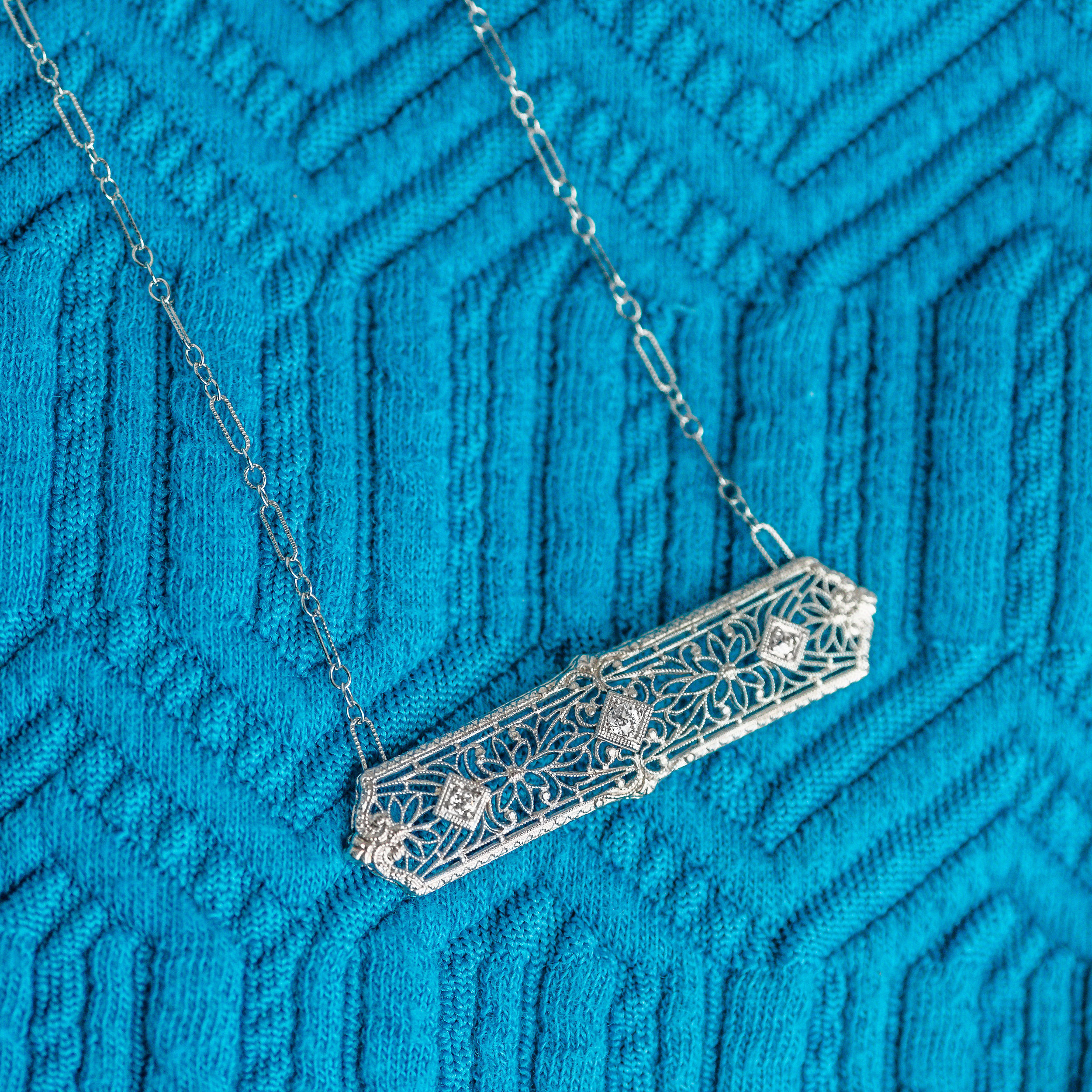 From Pin to Pendant. We love repurposing these Art Deco beauties! Shop this gorgeous Art Deco Pendant  HERE .