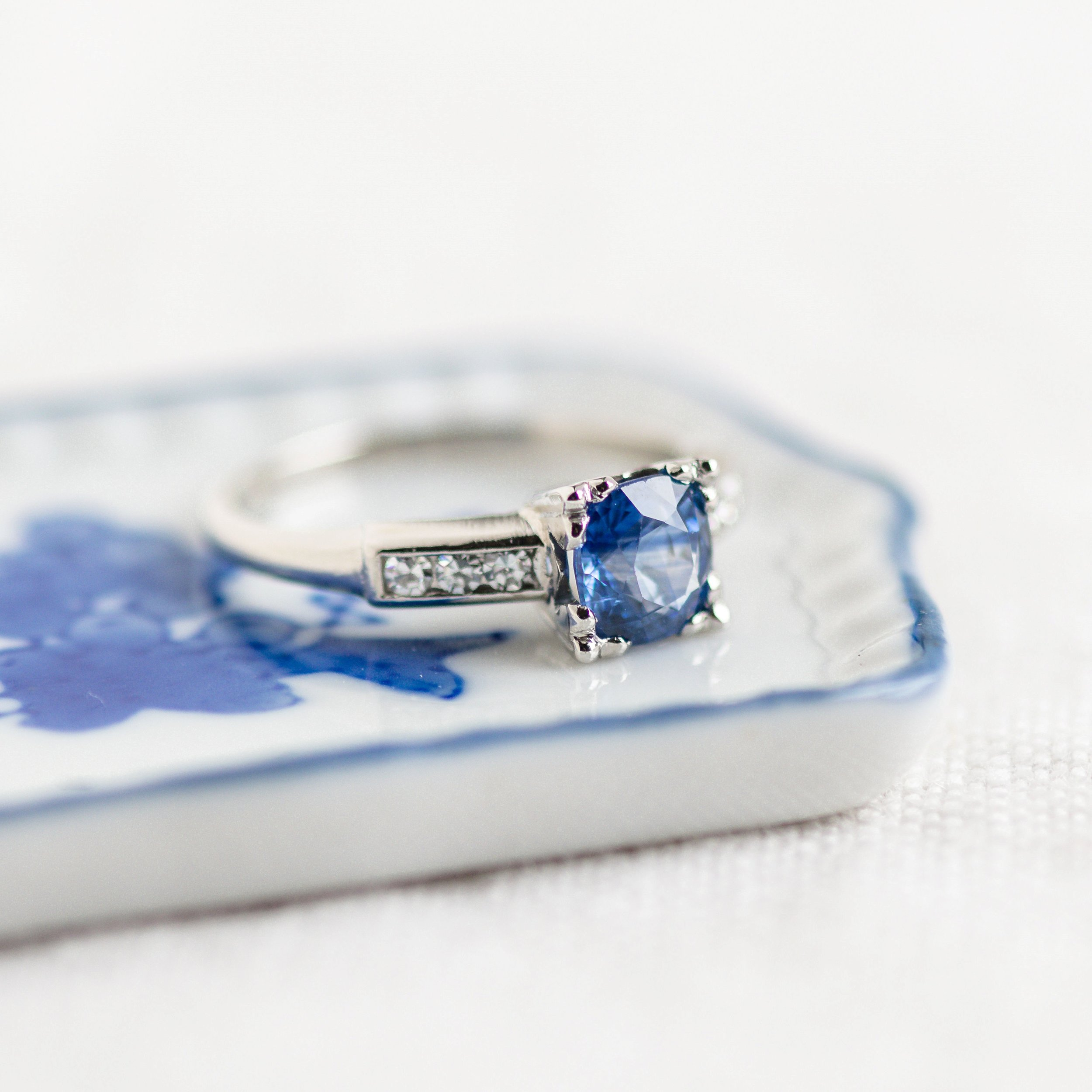 Dreamy blue sapphire and diamond ring. Shop this beauty  HERE .
