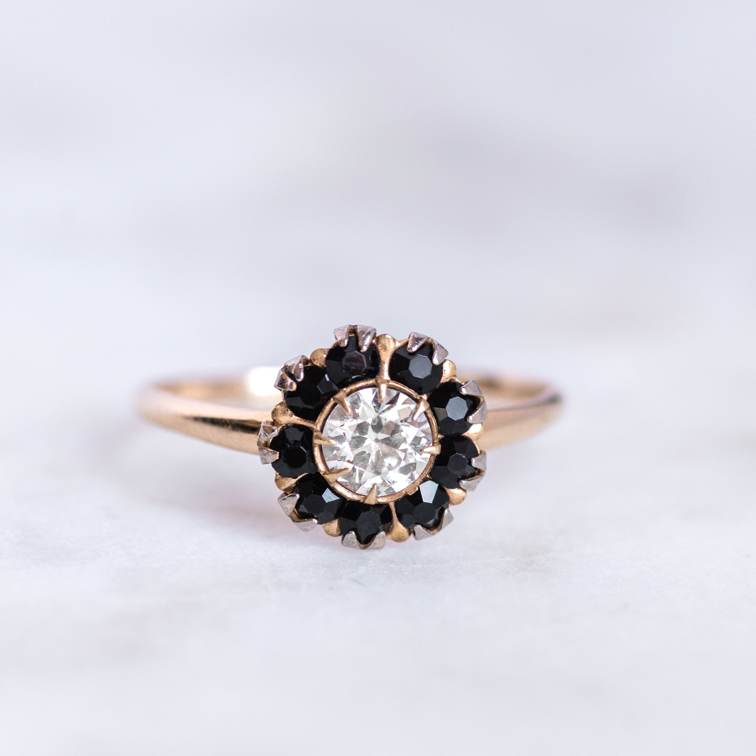 Nothing like black onyx and diamonds to class things up! shop this beautiful ring  HERE !