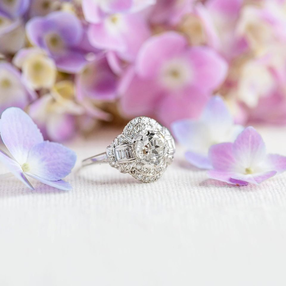 Is this whimsical 1.86 carat Old Mine Cut Diamond ring not THE MOST lovely? Shop  HERE !