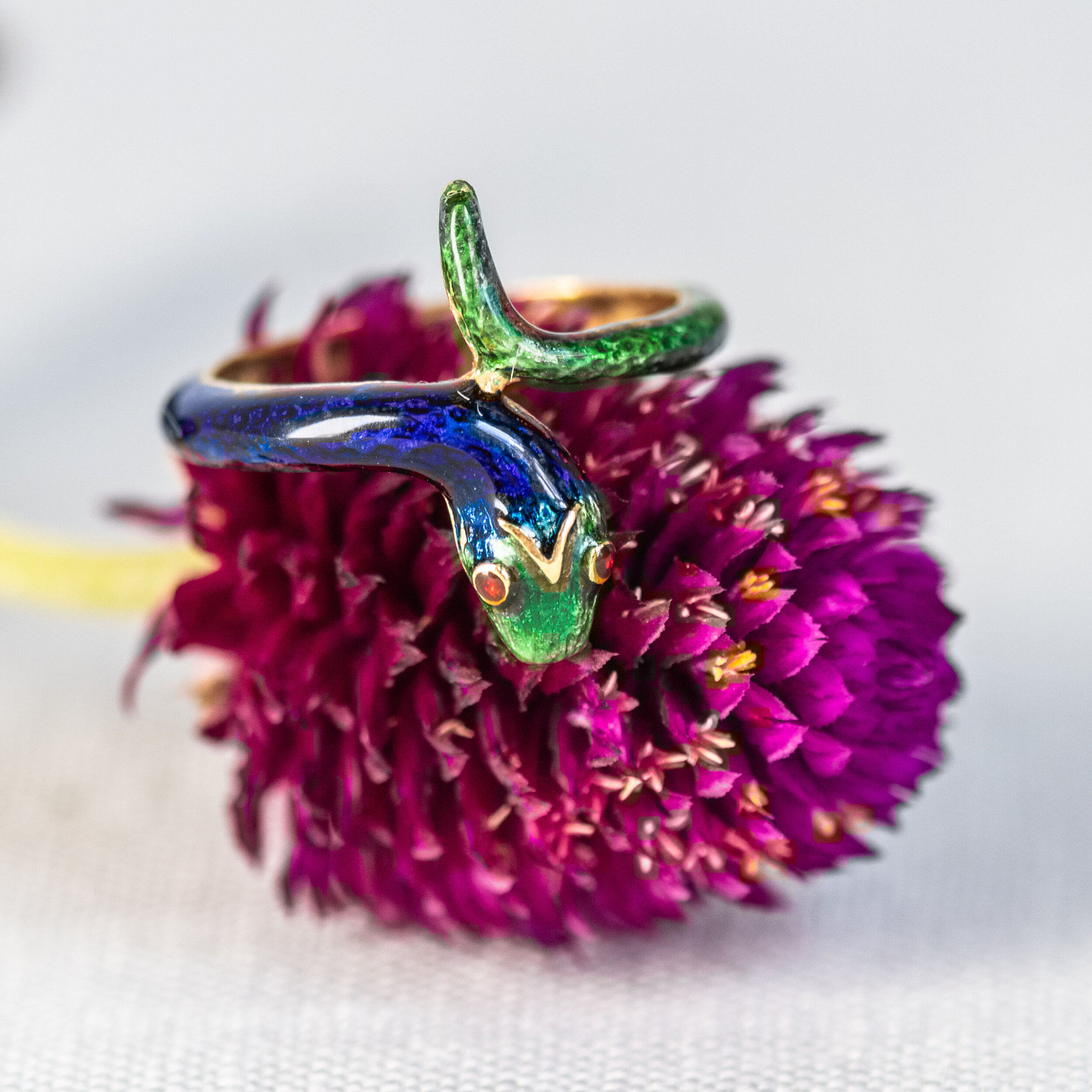 Happy Sssssaturday! Shop this awesome enamel snake ring  HERE .