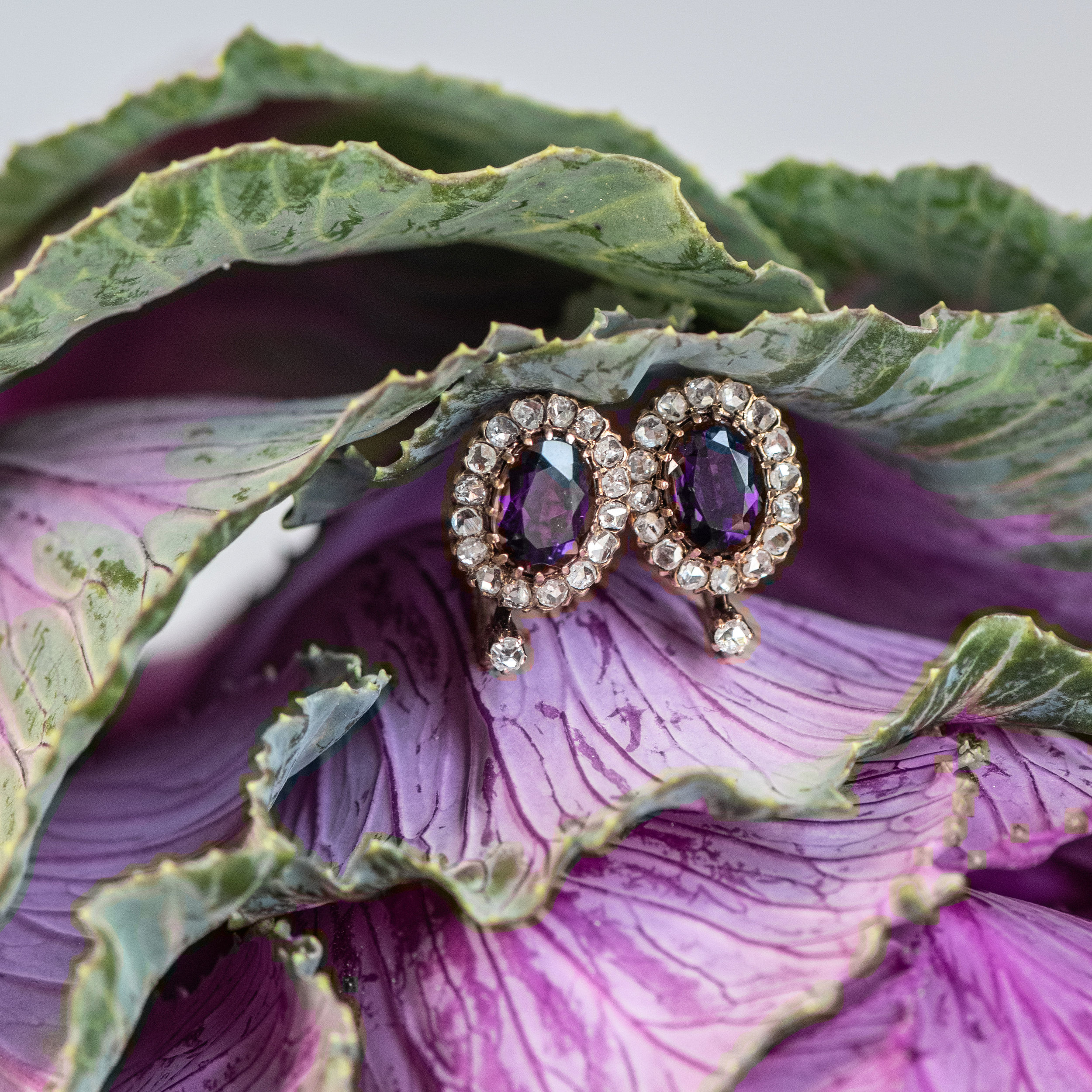 The rich purple hue of these Victorian amethyst and rose cut diamond earrings are certainly lust worthy! 💜 Shop  HERE .