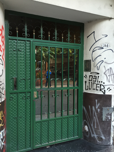 What lies behind the green door?