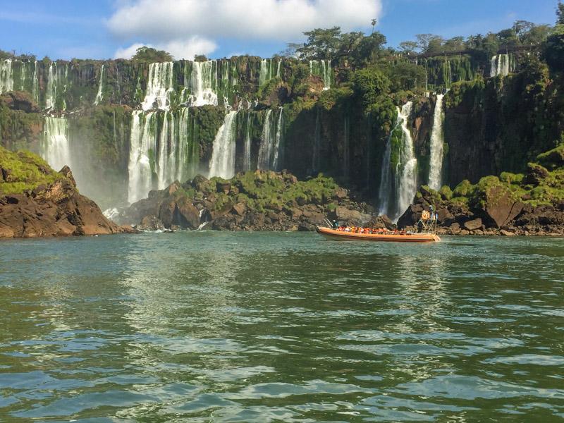 Iguazu Falls from the river