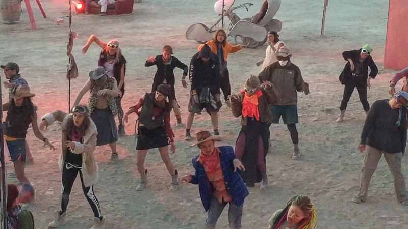 Thriller flash mob